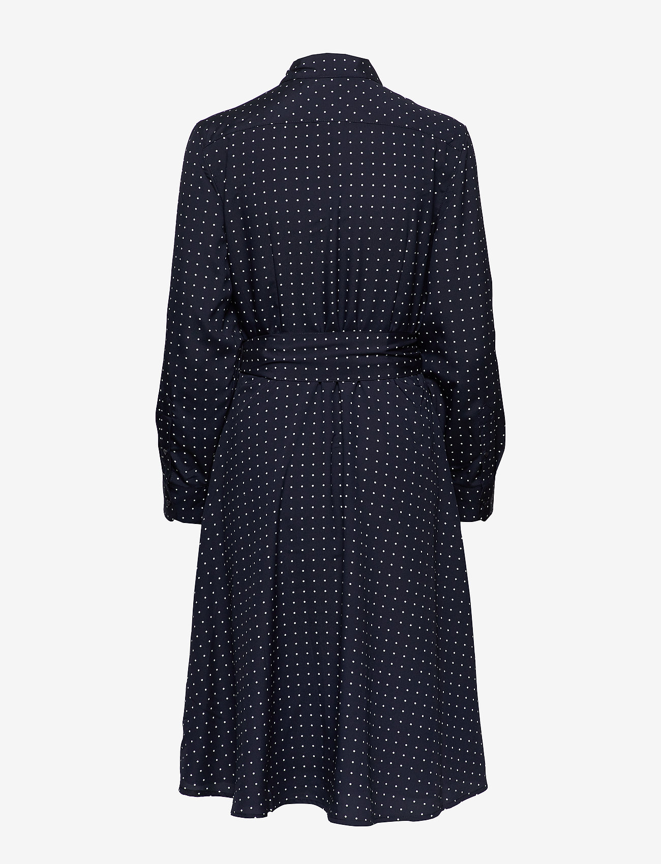 Lauren Ralph Lauren Print Long-Sleeve Shirtdress - Sukienki LAUREN NAVY/SILK - Kobiety Odzież.