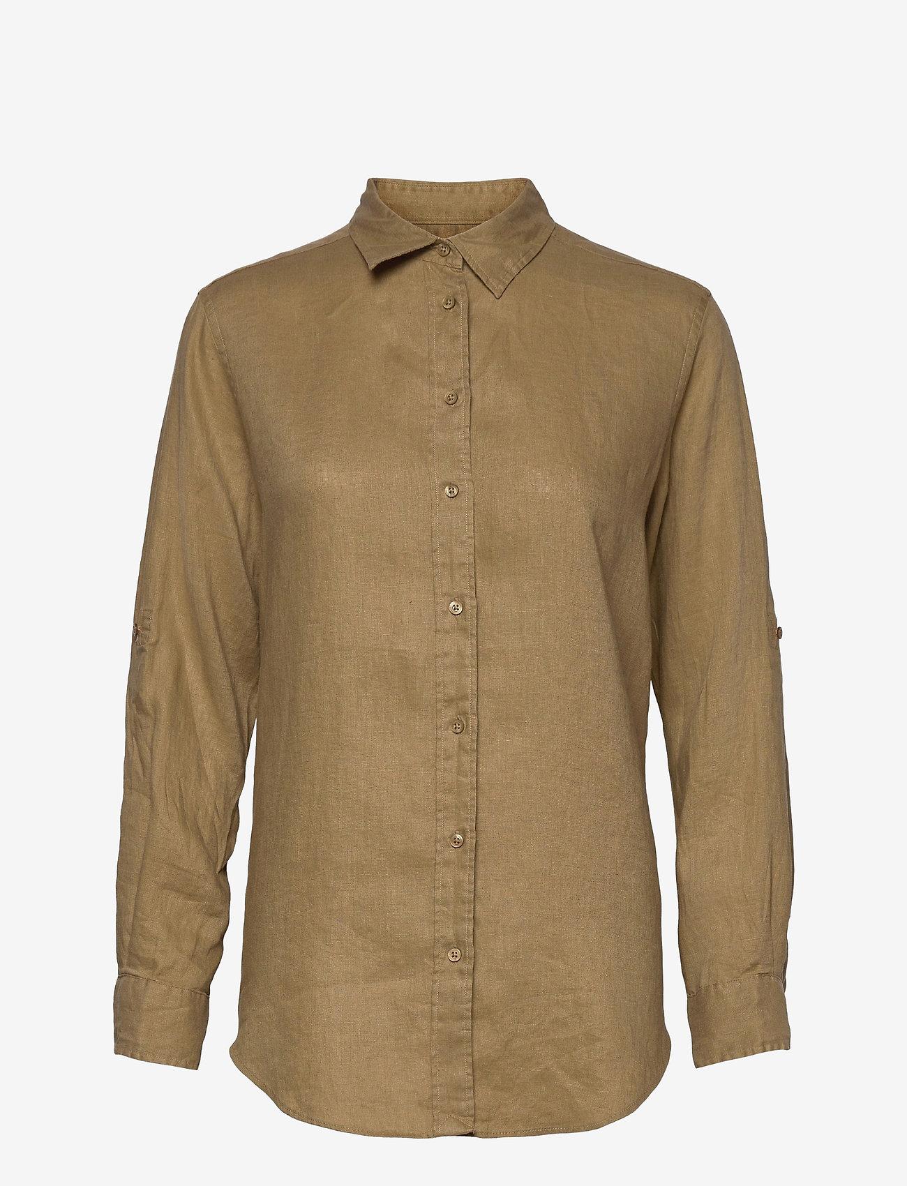 Lauren Ralph Lauren - Linen Shirt - langærmede skjorter - spring khaki - 1
