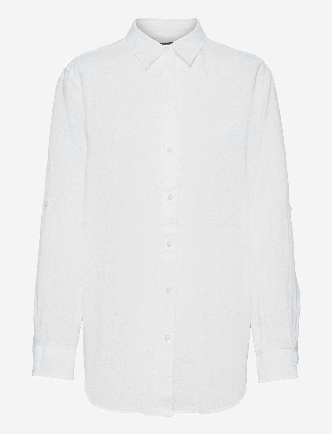 Lauren Ralph Lauren - Linen Shirt - langærmede skjorter - white - 0