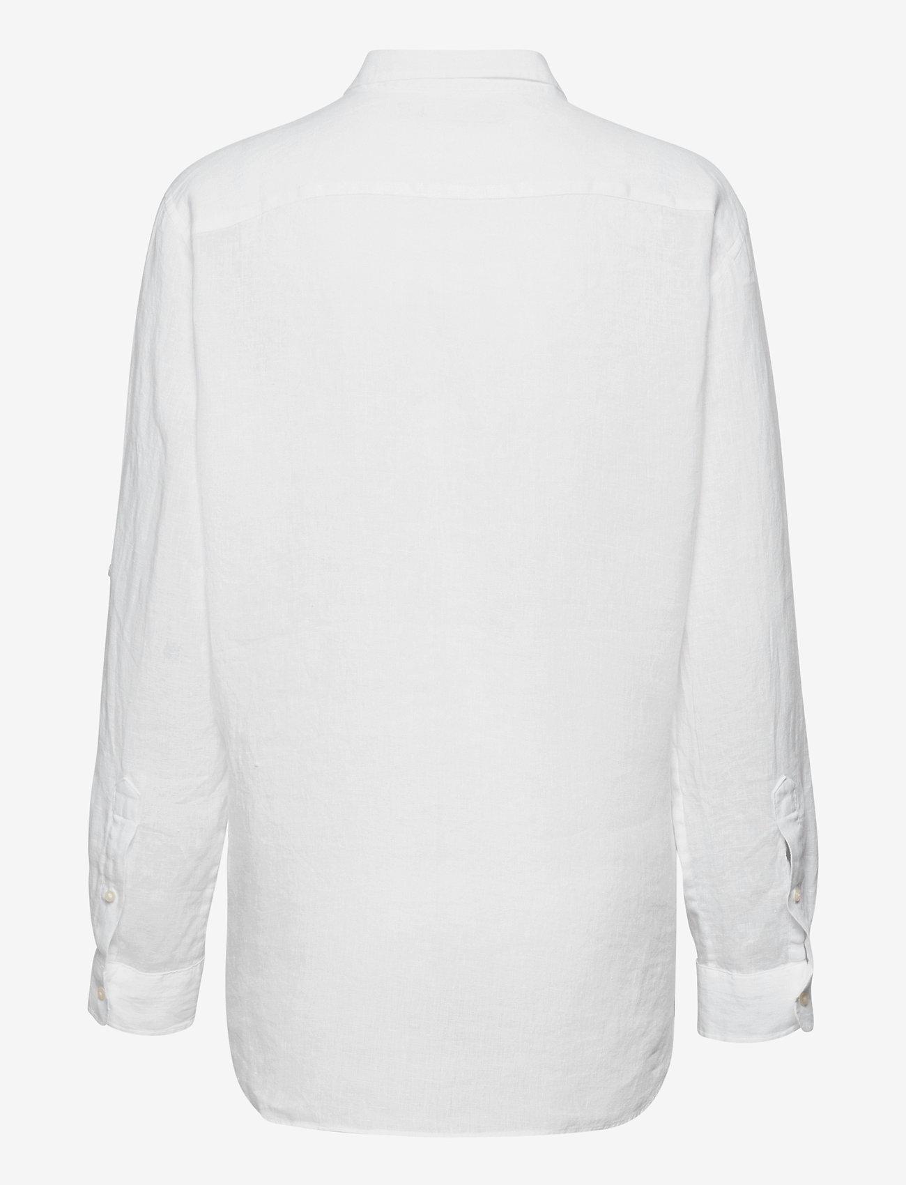 Lauren Ralph Lauren - Linen Shirt - langærmede skjorter - white - 1