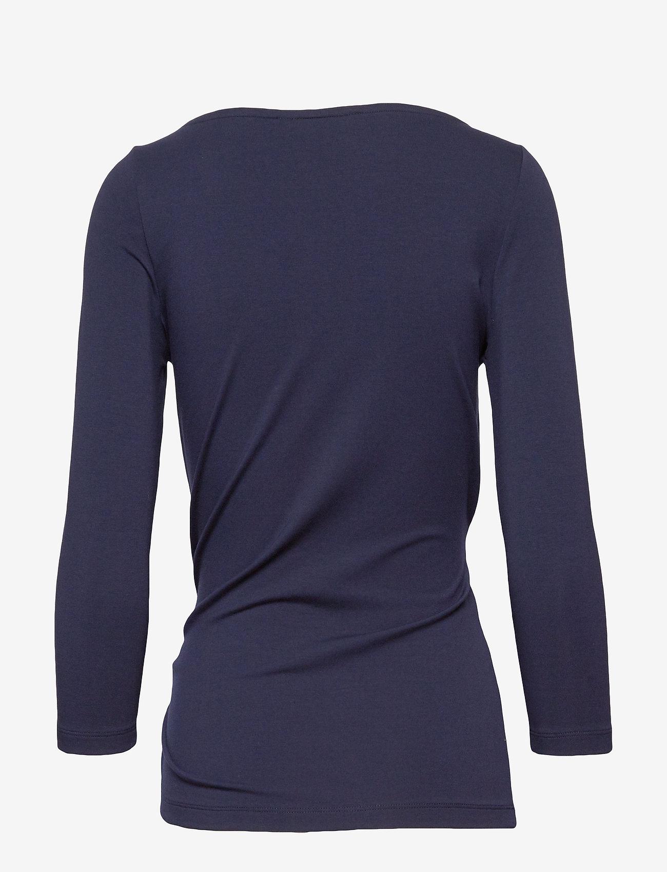 Lauren Ralph Lauren Cotton-Blend Wrap Top - T-shirts & topper LAUREN NAVY - Dameklær Spesialtilbud