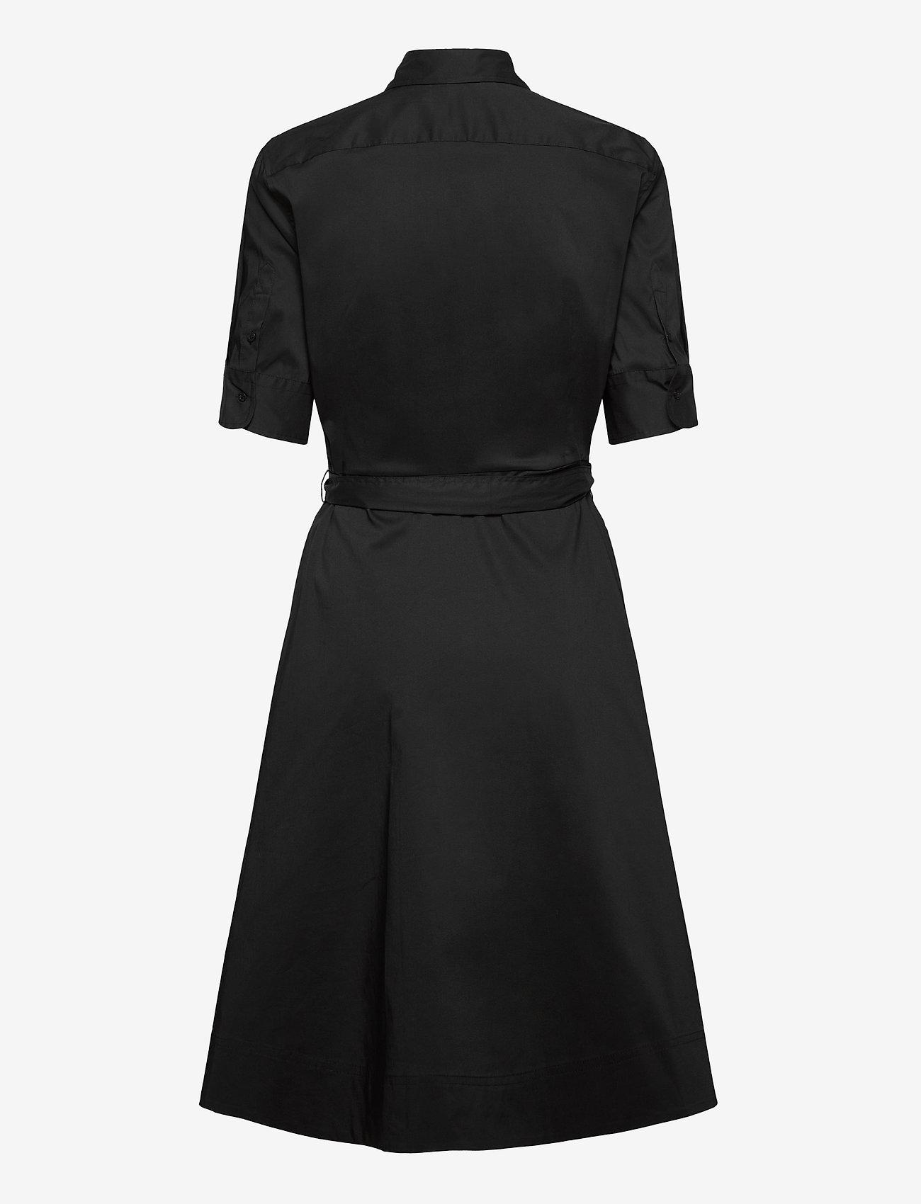 Lauren Ralph Lauren Belted Cotton-Blend Shirtdress - Kjoler BLACK - Dameklær Spesialtilbud