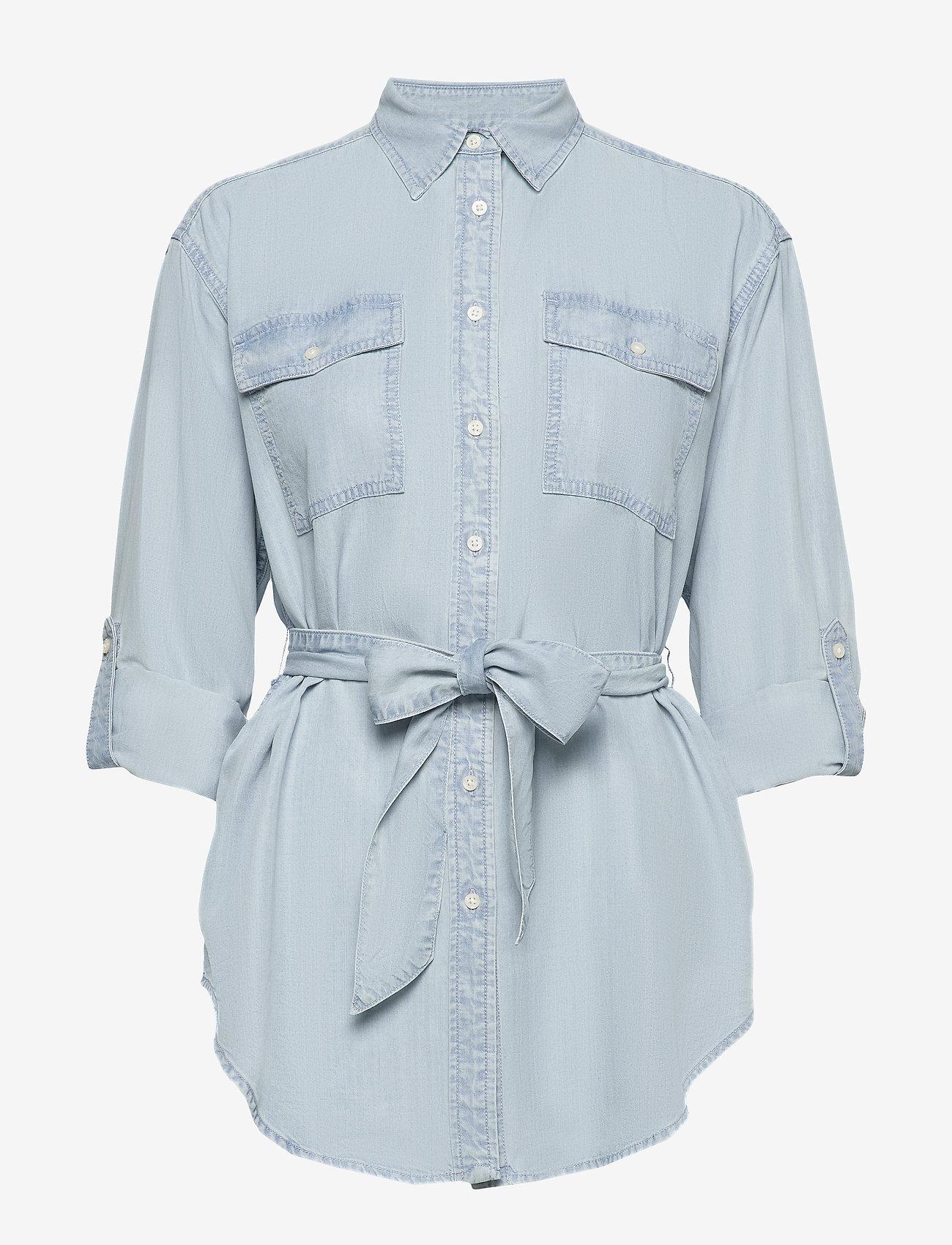 Belted Shirt (Pale Blue Wash) - Lauren Ralph Lauren N4IBU5