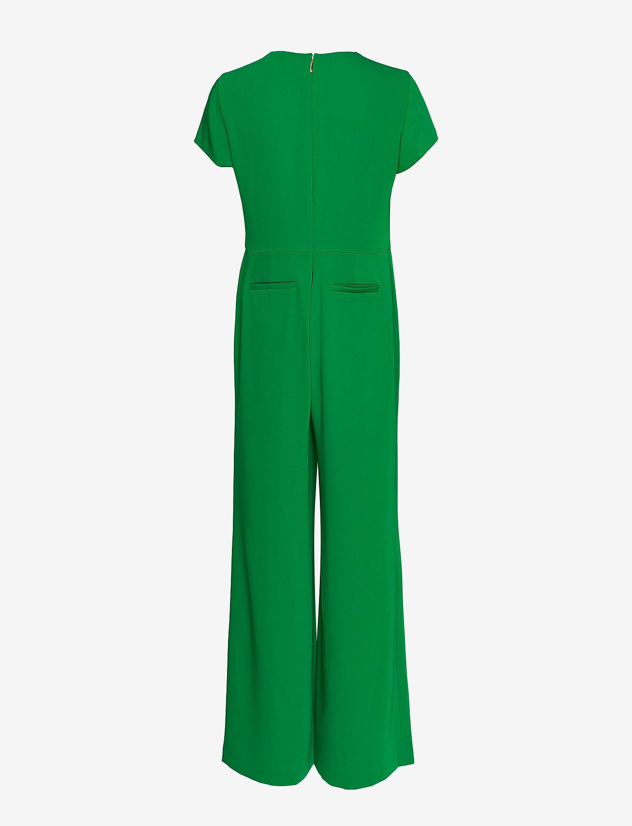 Lauren Ralph Lauren - Crepe Wide-Leg Jumpsuit - kombinezony - hedge green - 1