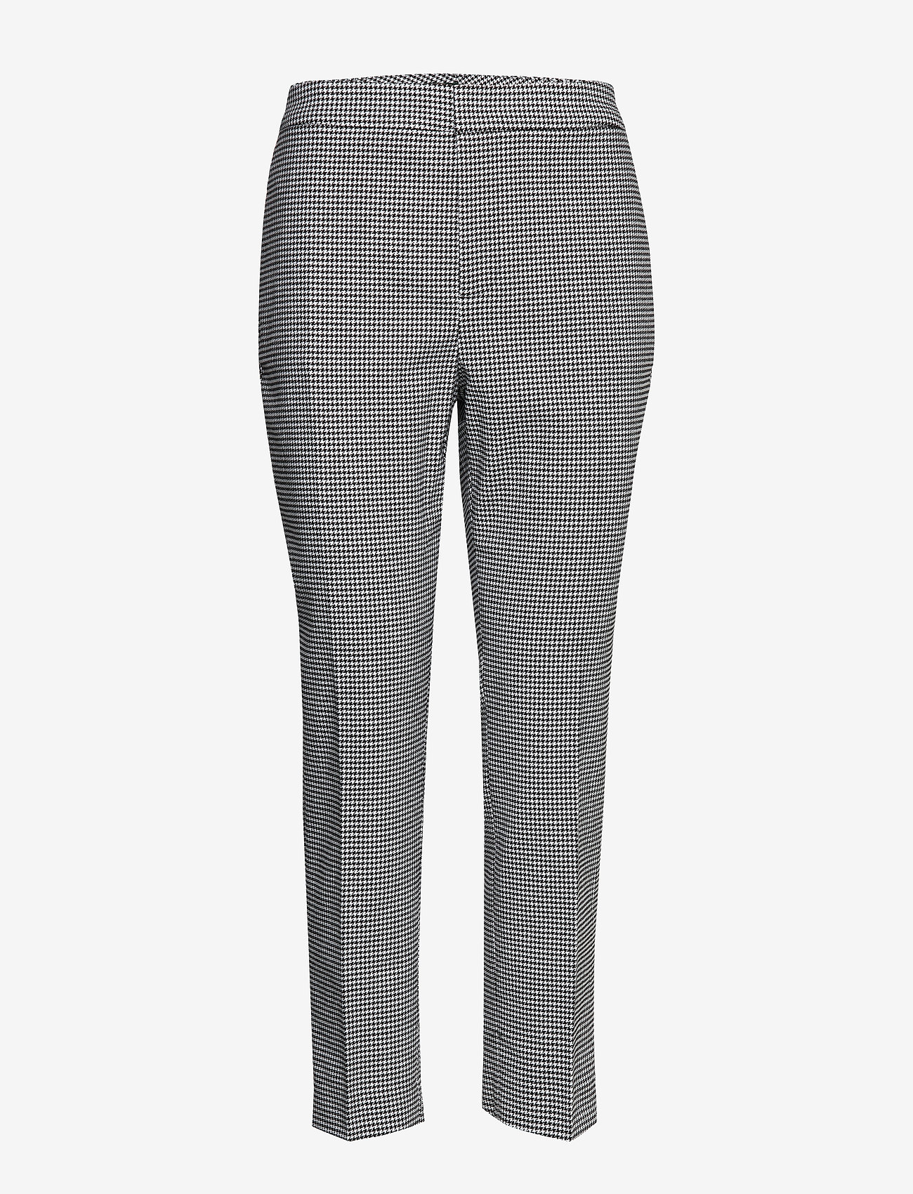 Lauren Ralph Lauren - Houndstooth Stretch Pant - slim fit broeken - black/silk white - 0