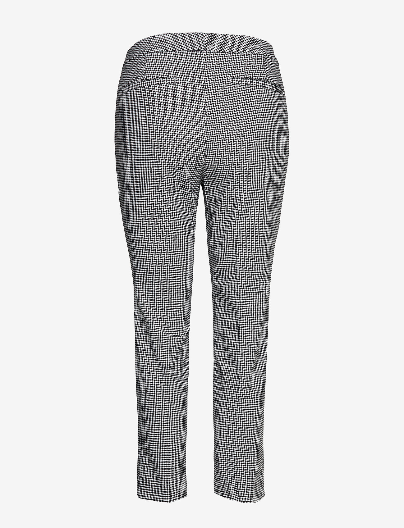 Lauren Ralph Lauren - Houndstooth Stretch Pant - slim fit broeken - black/silk white - 1