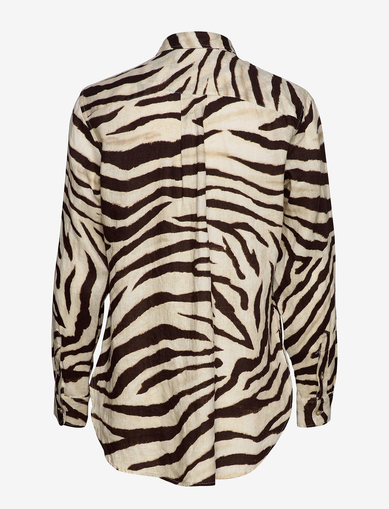 Print Linen Shirt (Dk Brown Multi) - Lauren Ralph Lauren 0s2Nu9