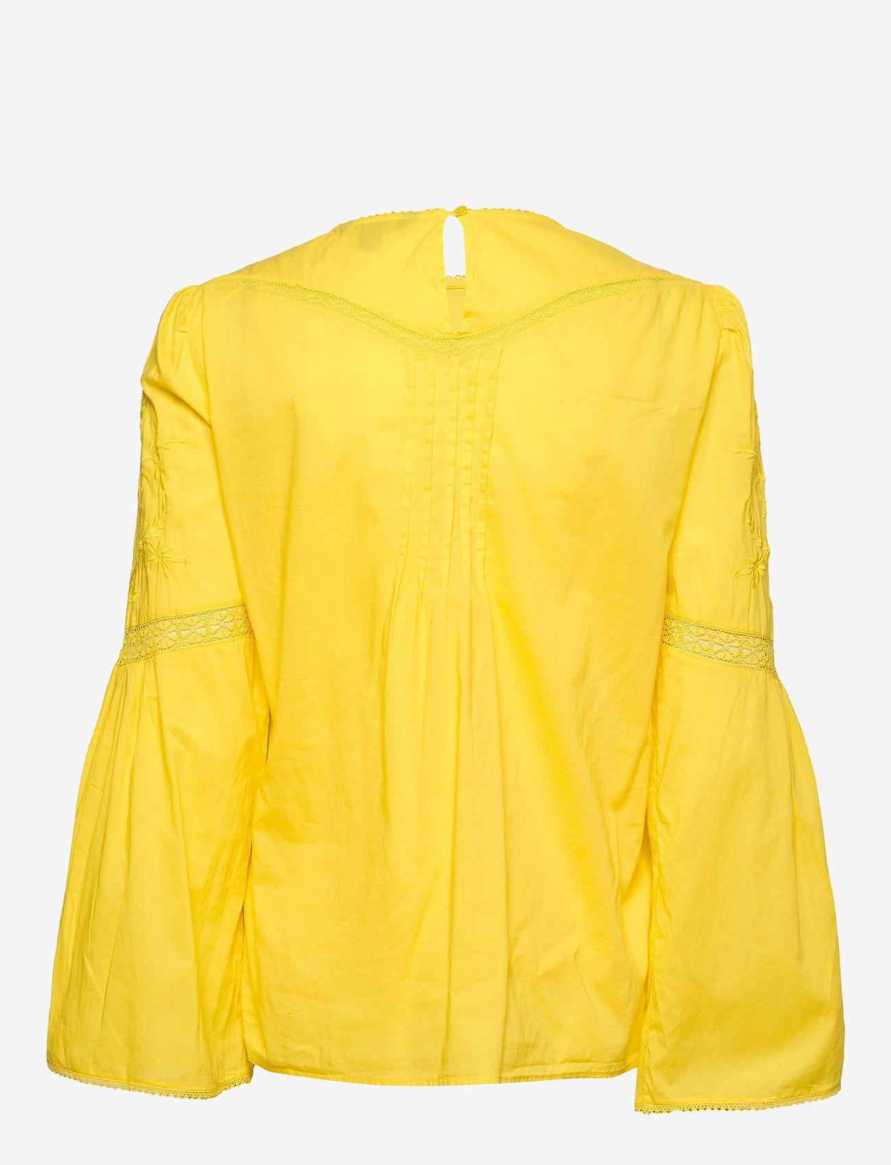 Lauren Ralph Lauren - Embroidered Bell-Sleeve Top - langærmede bluser - dandelion fields - 1