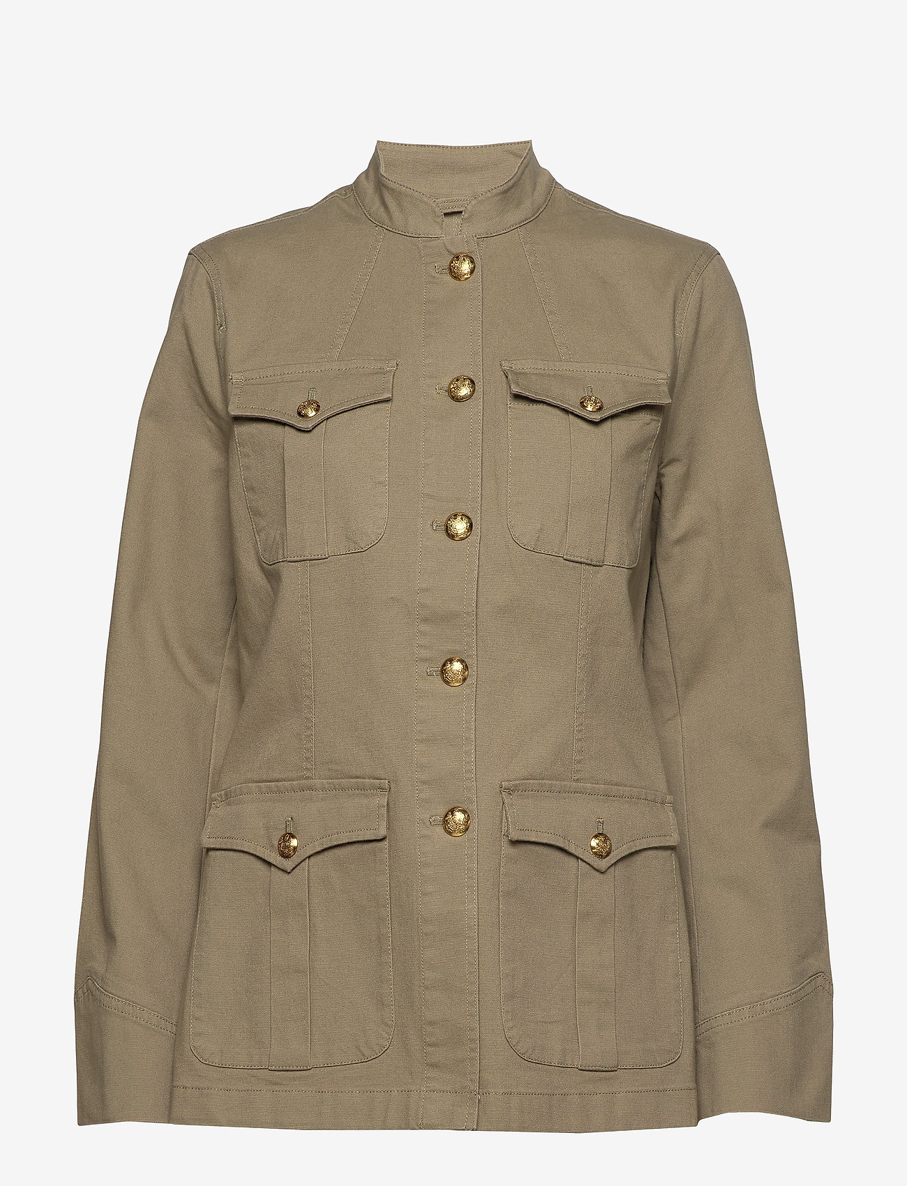 Lauren Ralph Lauren - Stretch-Cotton Canvas Jacket - kurtki użytkowe - dry olive - 0