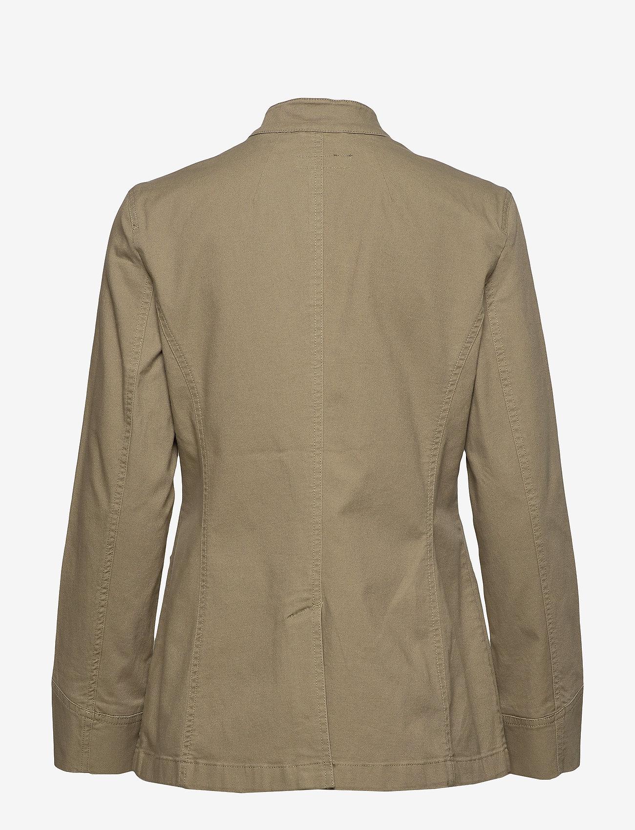 Lauren Ralph Lauren - Stretch-Cotton Canvas Jacket - kurtki użytkowe - dry olive - 1