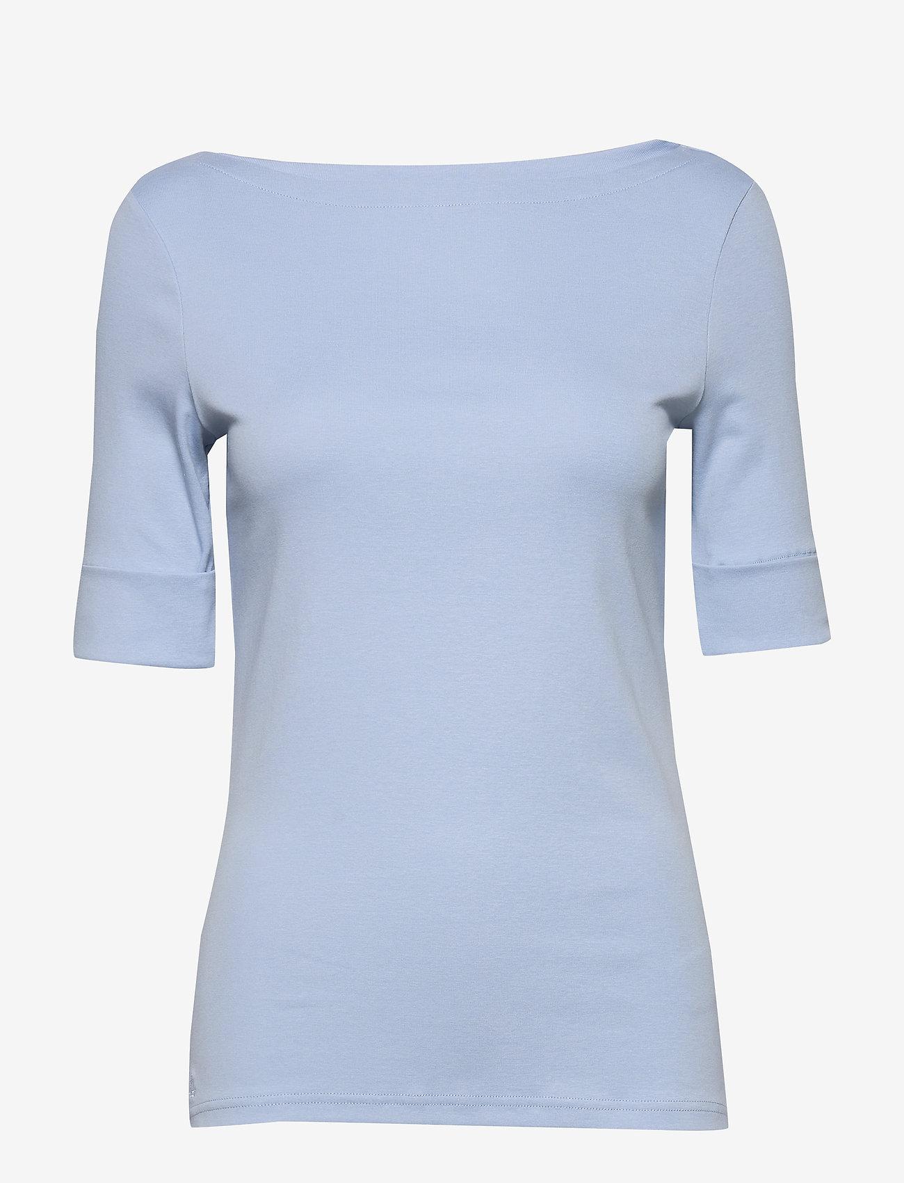 Lauren Ralph Lauren - Cotton-Blend Boatneck Top - t-shirts - estate blue - 0