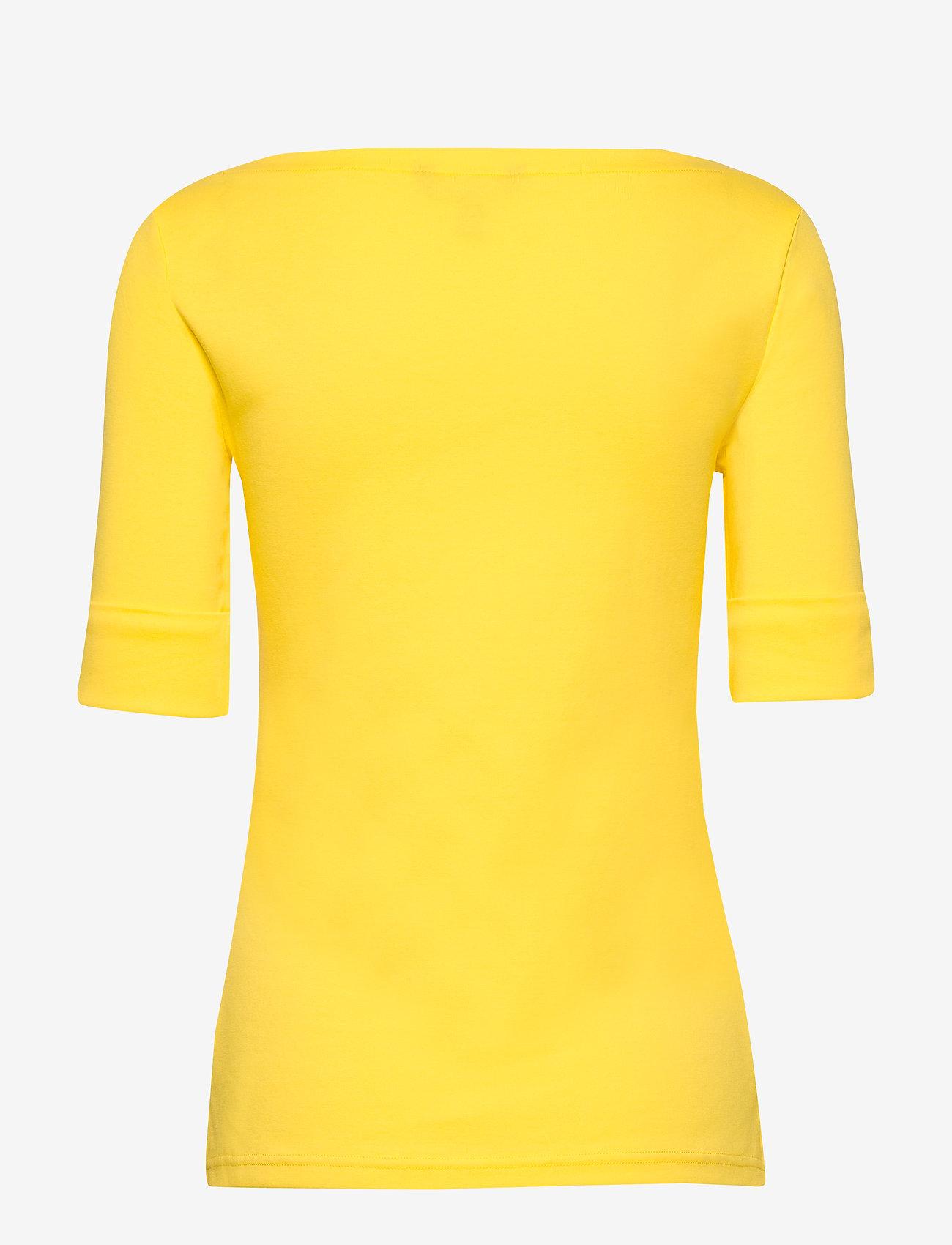 Lauren Ralph Lauren - Cotton-Blend Boatneck Top - t-shirts - hampton yellow - 1