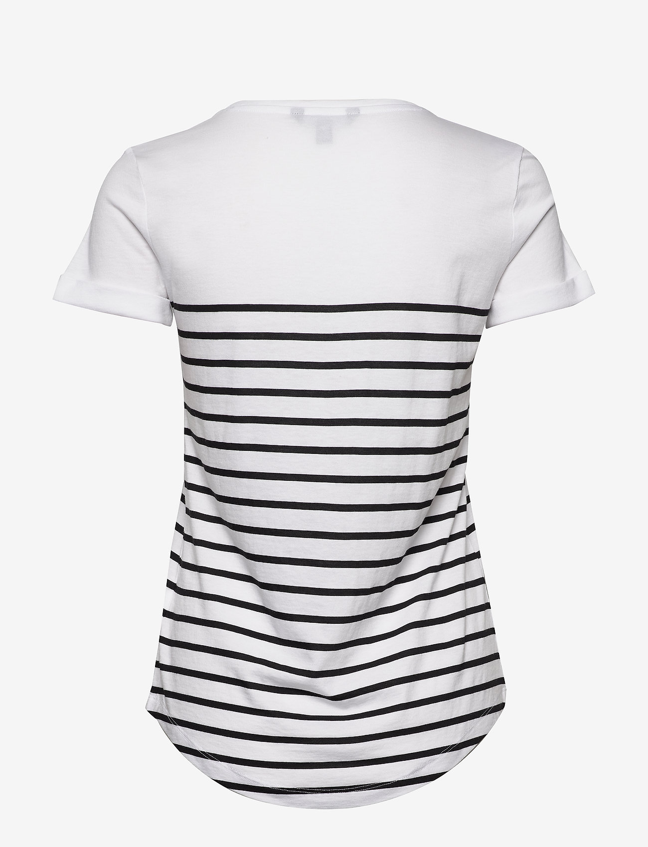 Lauren Ralph Lauren - Striped Logo Tee - t-shirts - white - 1