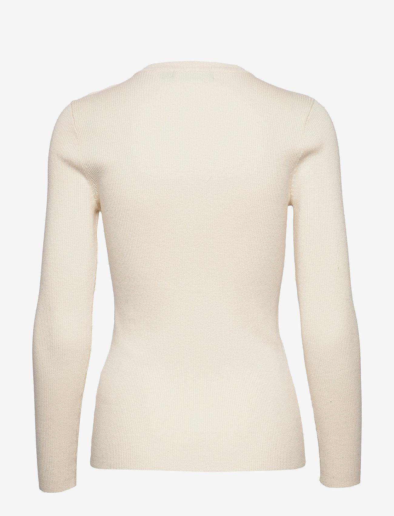 Lauren Ralph Lauren - Ribbed Cotton-Blend Sweater - gensere - mascarpone cream - 1