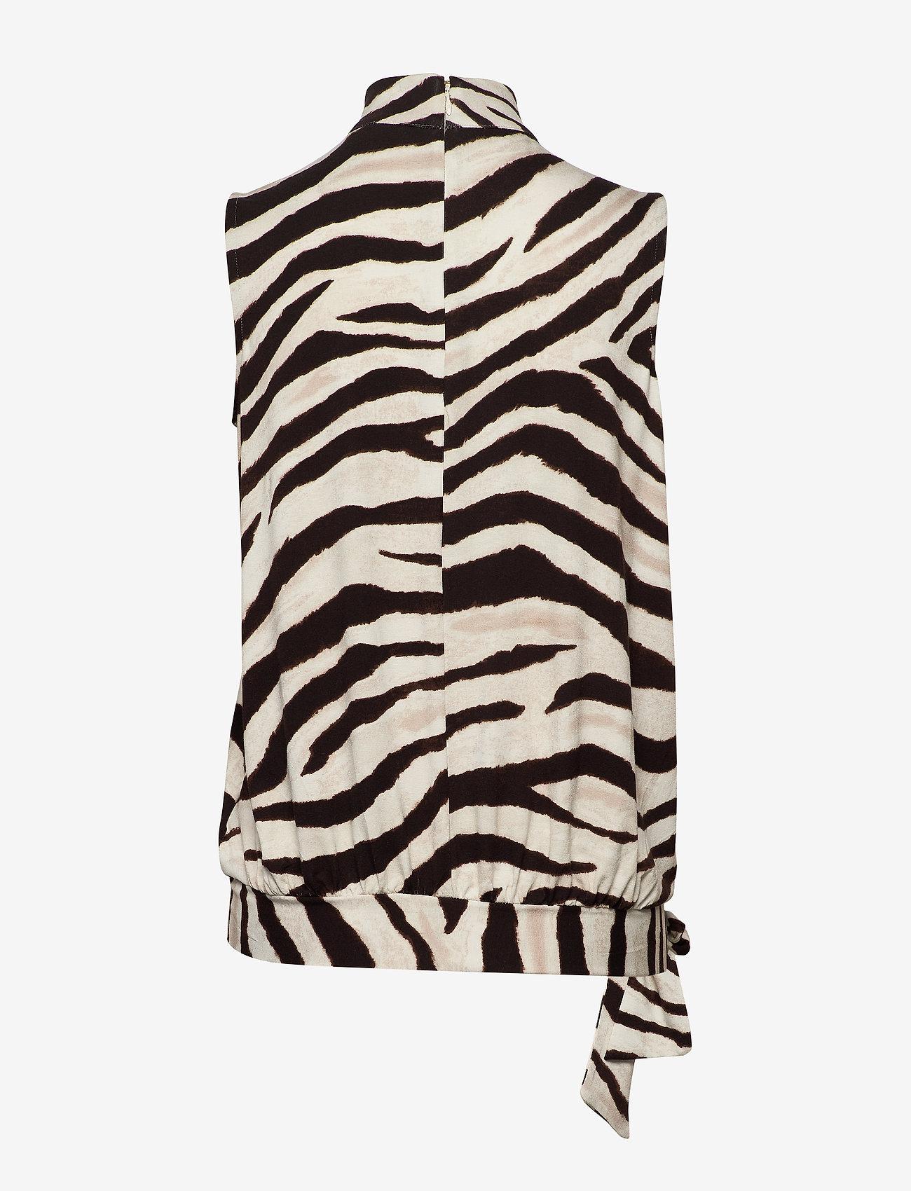 Lauren Ralph Print Jersey Sleeveless Top - Blouses & Shirts