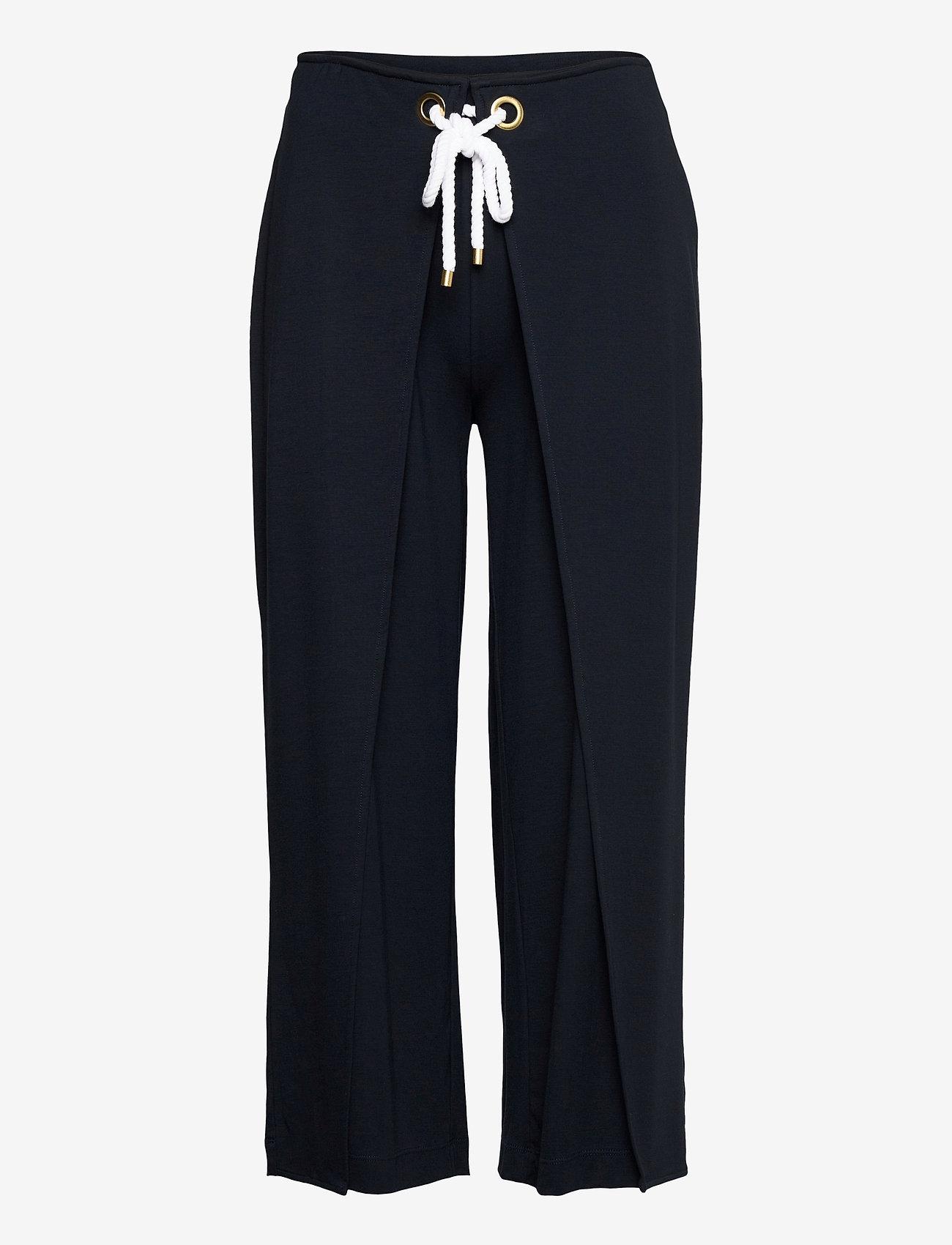Lauren Ralph Lauren - Stretch Wide-Leg Pant - casual bukser - lauren navy - 1