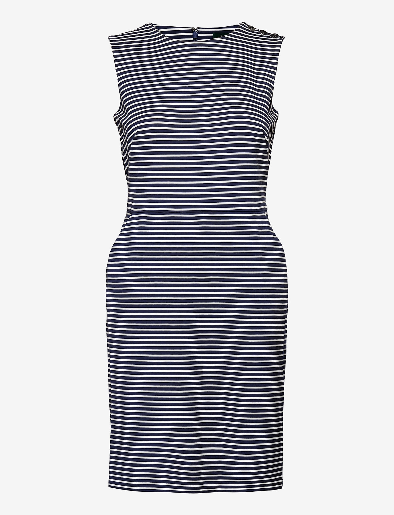 Lauren Ralph Lauren - Button-Trim Ponte Dress - stramme kjoler - lauren navy/pale - 1