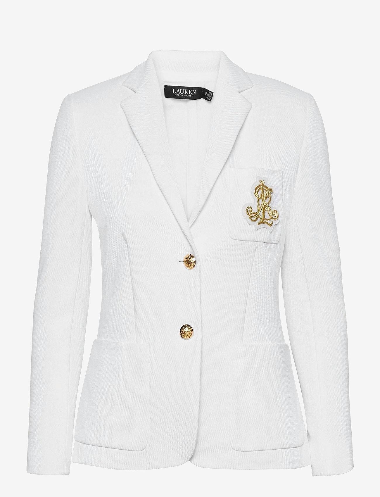 Lauren Ralph Lauren - Patch Jacquard Blazer - casual blazere - white - 0