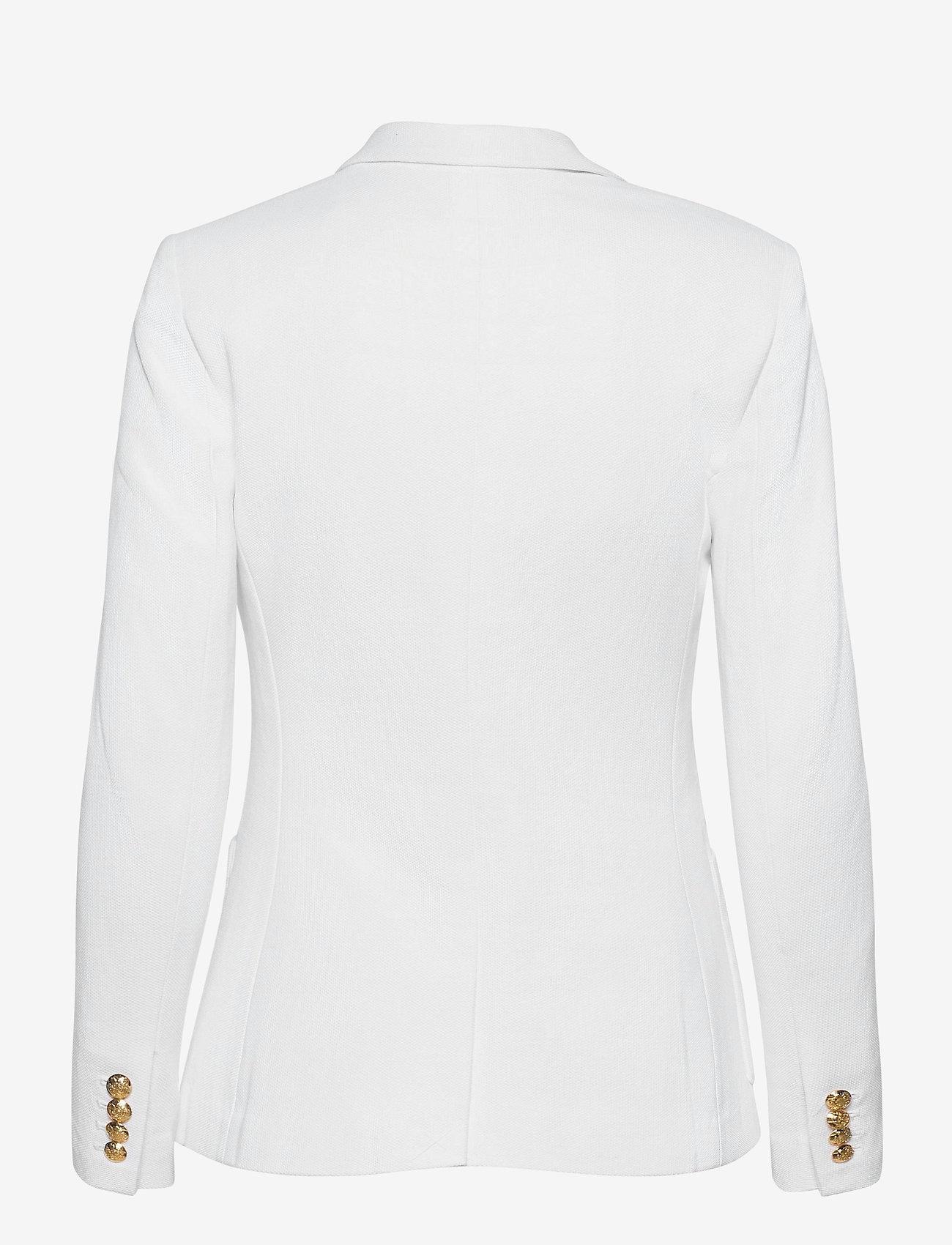 Lauren Ralph Lauren - Patch Jacquard Blazer - casual blazere - white - 1