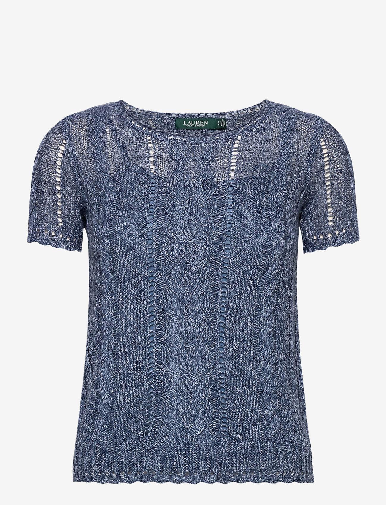 Lauren Ralph Lauren - Cable-Knit Linen-Blend Sweater - strikkede toppe - indigo marl - 1