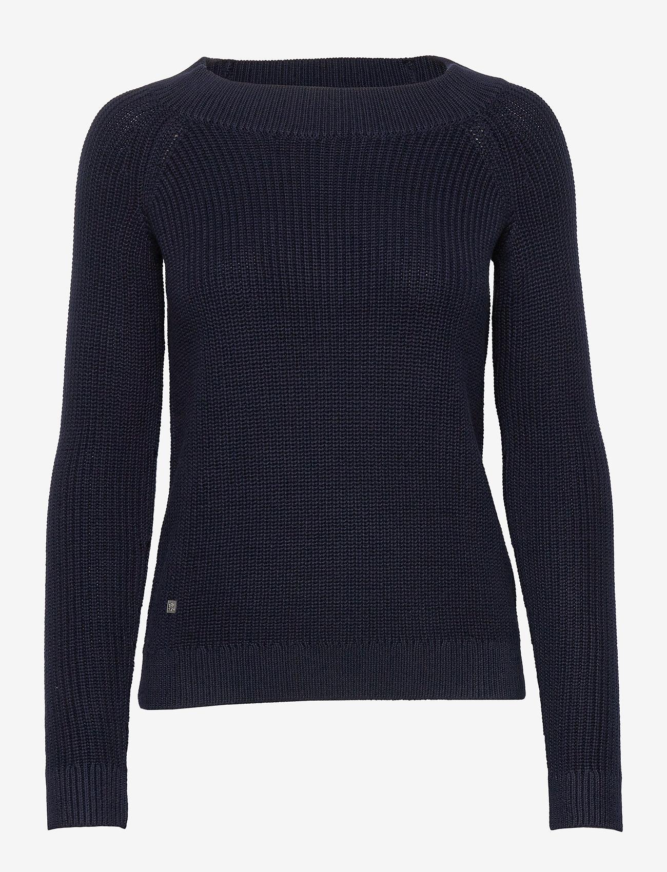 Lauren Ralph Lauren - Ribbed Cotton Sweater - trøjer - lauren navy - 1