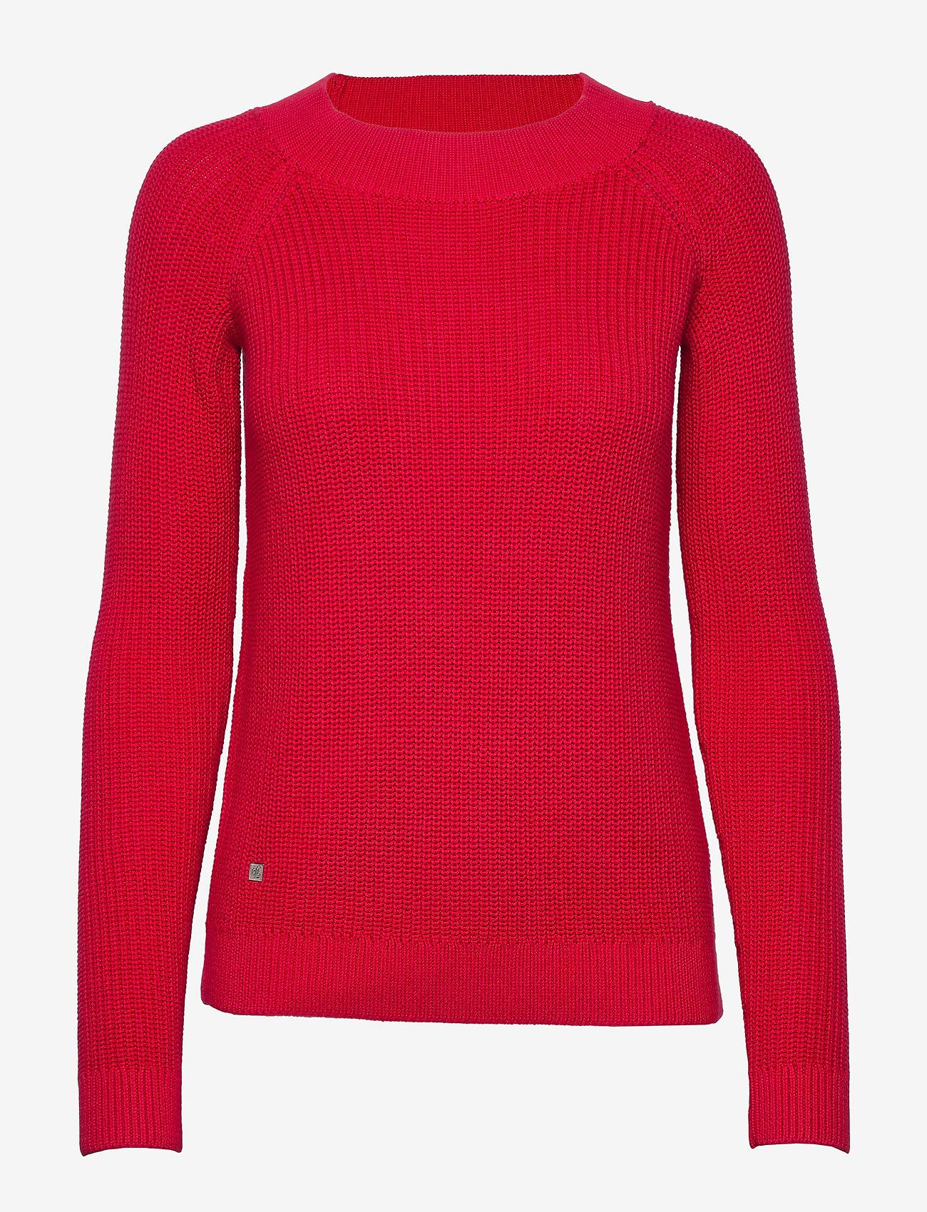 Lauren Ralph Lauren - Ribbed Cotton Sweater - trøjer - orient red - 1