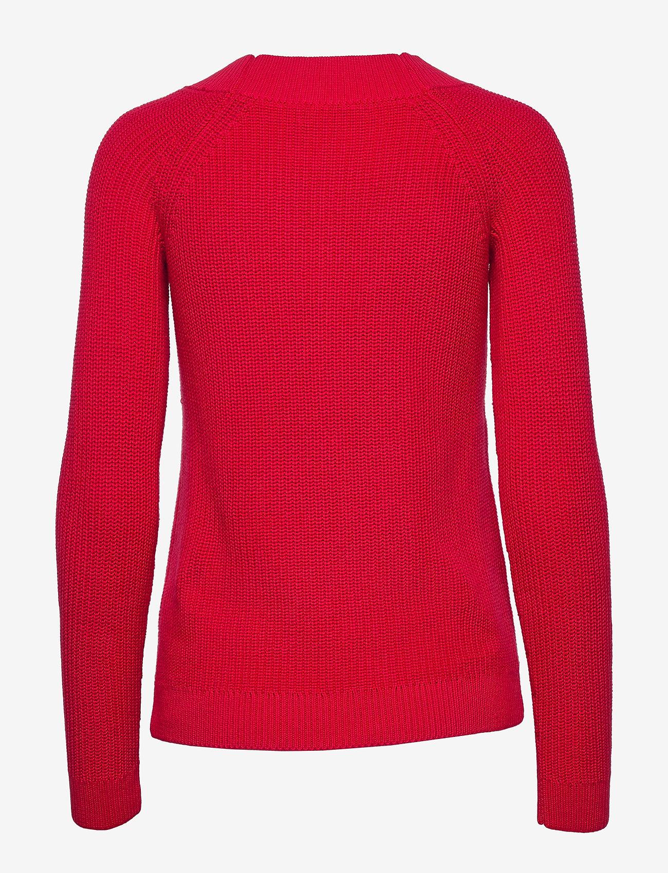 Lauren Ralph Lauren - Ribbed Cotton Sweater - gensere - orient red - 1