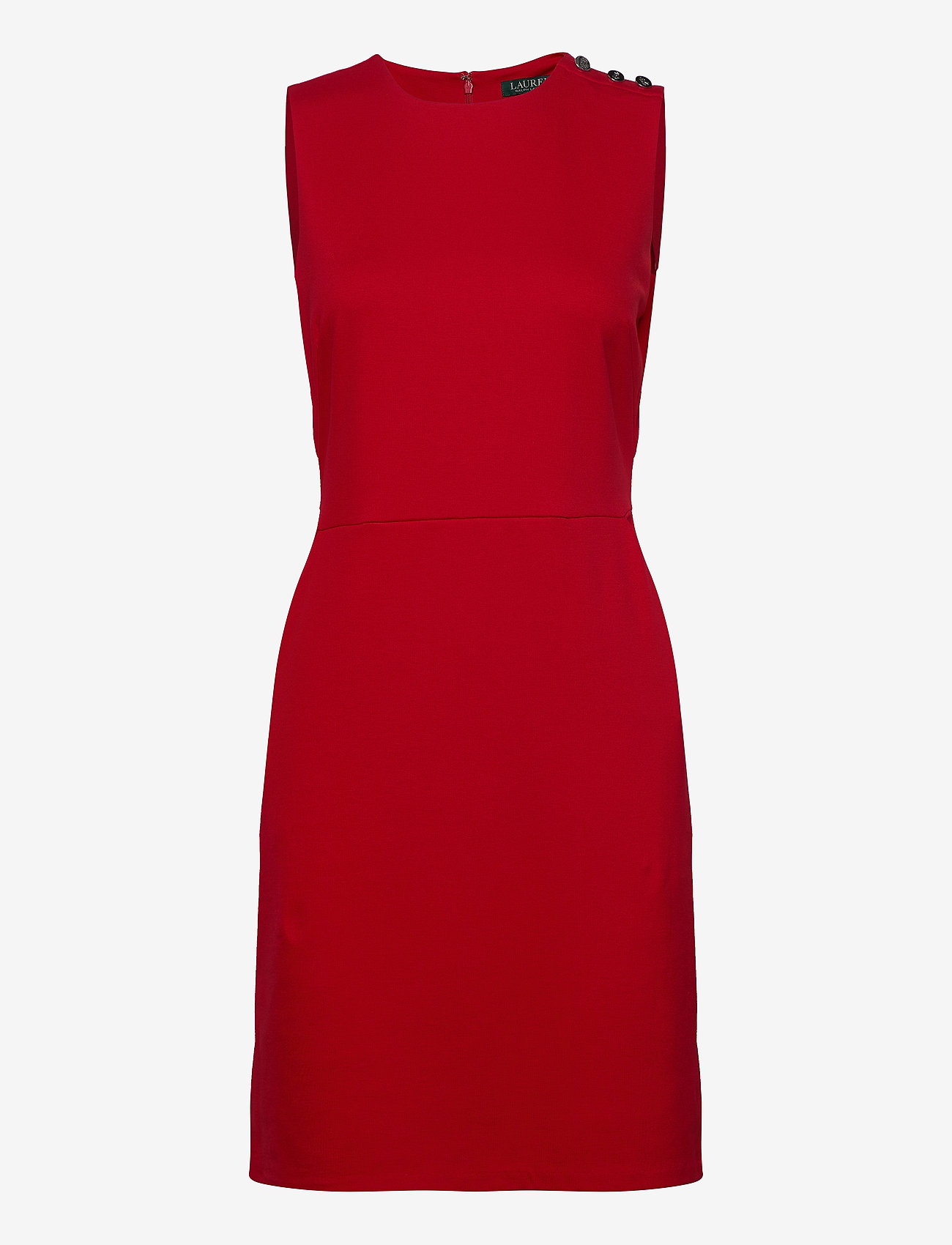 Lauren Ralph Lauren - Button-Trim Ponte Dress - midi kjoler - orient red - 1