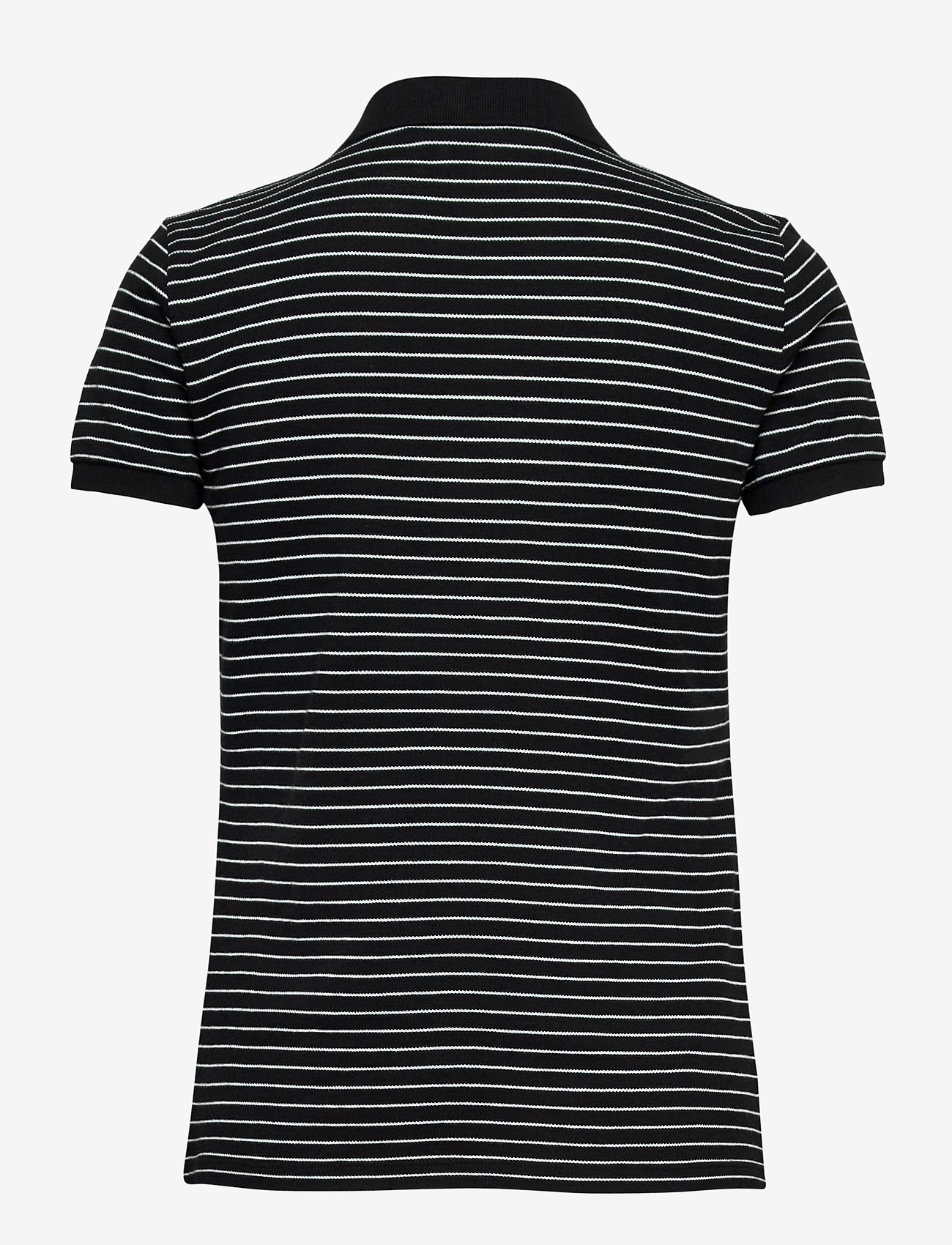 Lauren Ralph Lauren - Striped Piqué Polo Shirt - polohemden - polo black/white - 1