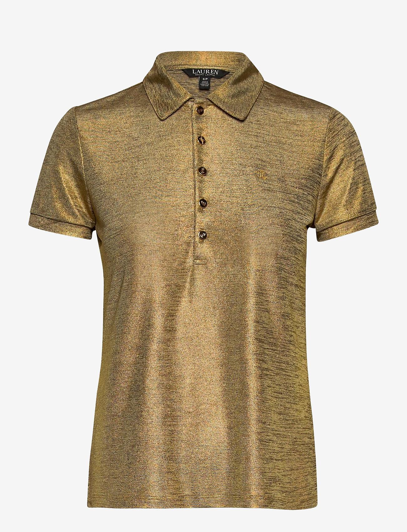 Lauren Ralph Lauren - Metallic Jersey Polo Shirt - polohemden - gold metal - 0