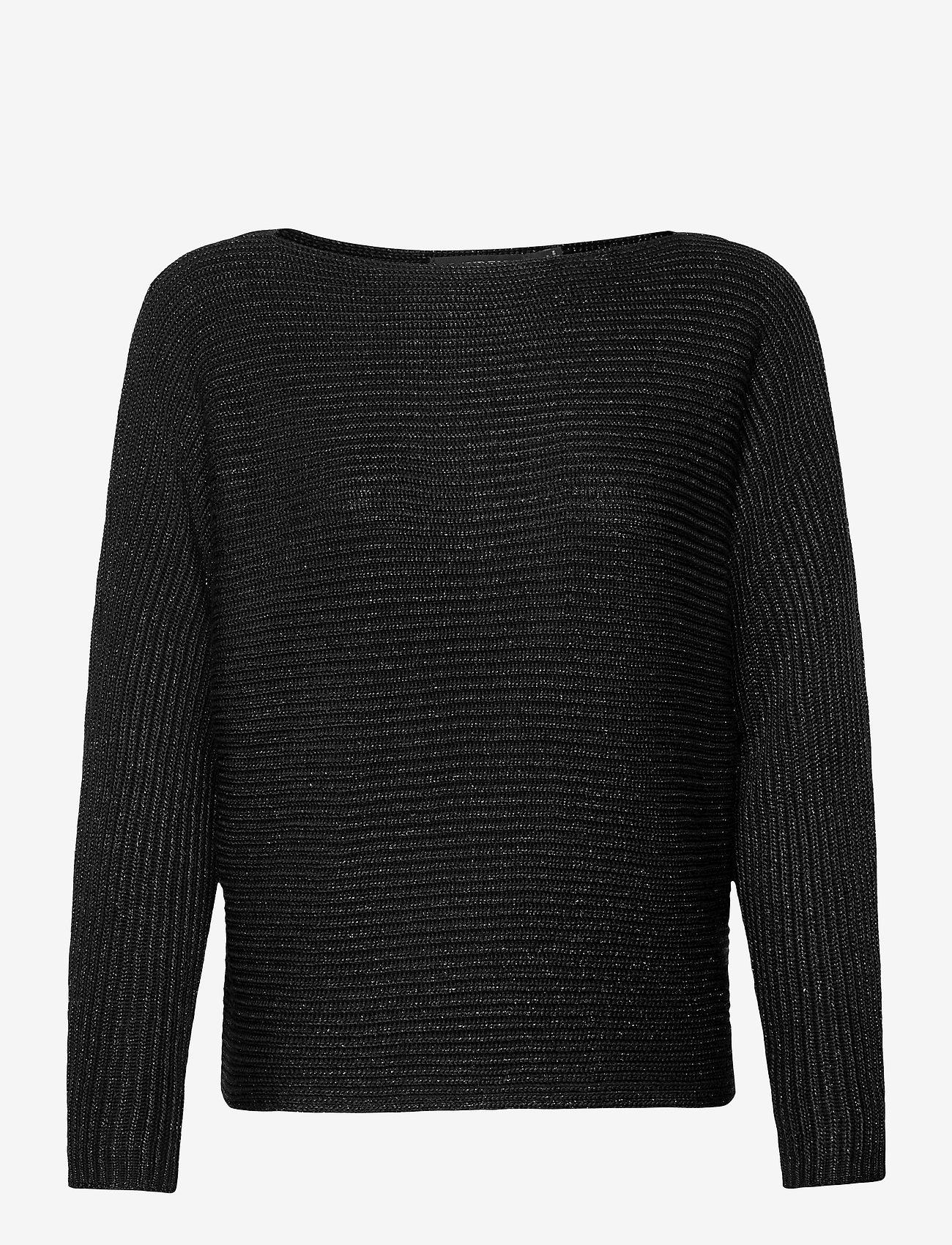 Lauren Ralph Lauren - Dolman-Sleeve Boatneck Sweater - pulls - polo black lurex - 1