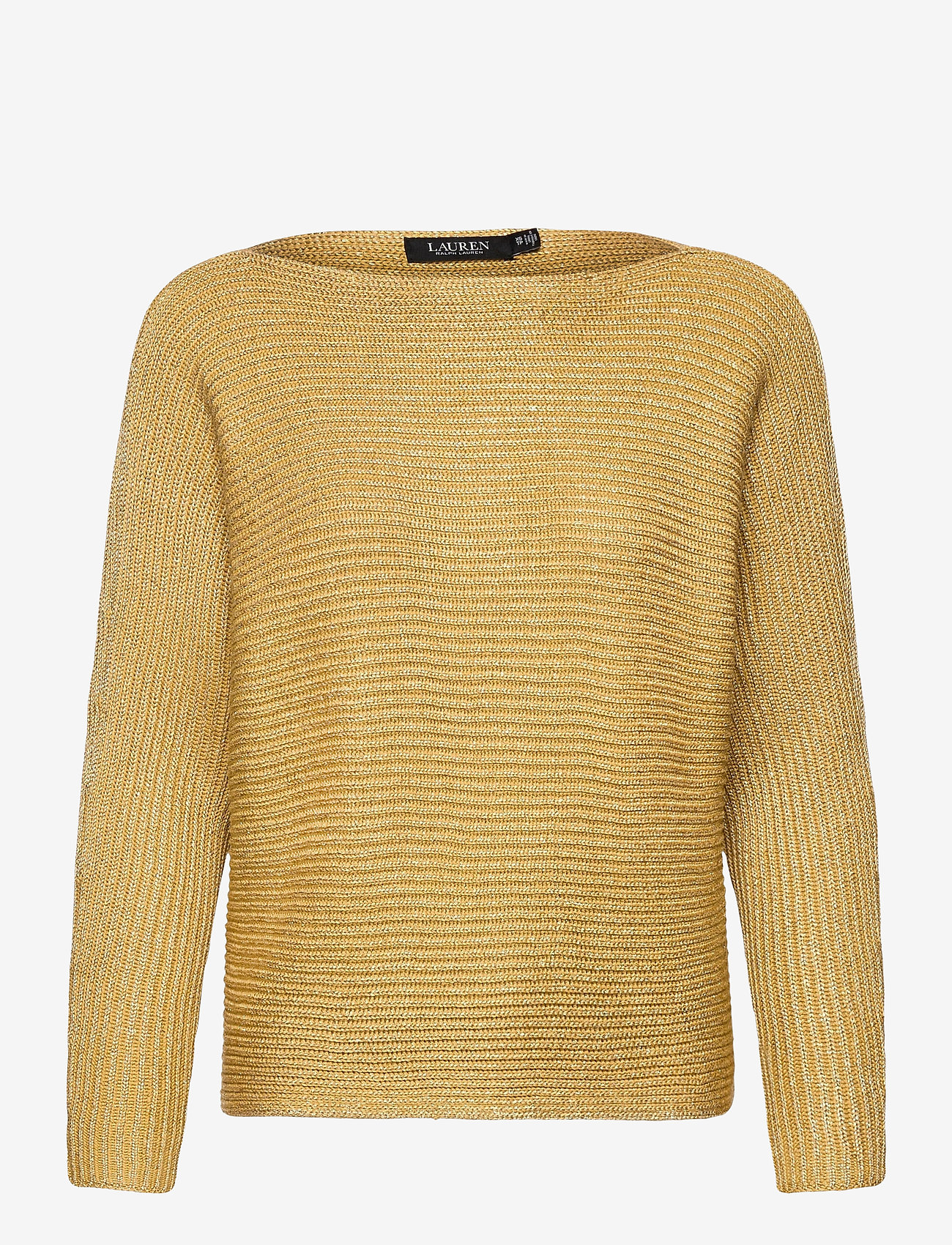 Lauren Ralph Lauren - Dolman-Sleeve Boatneck Sweater - trøjer - shiny gold lurex - 1