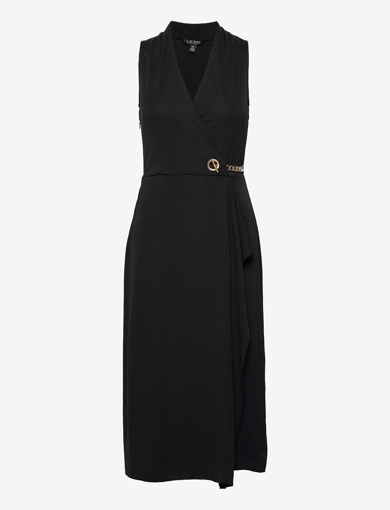 Lauren Ralph Lauren - Jersey Sleeveless Wrap Dress - aftenkjoler - polo black - 1