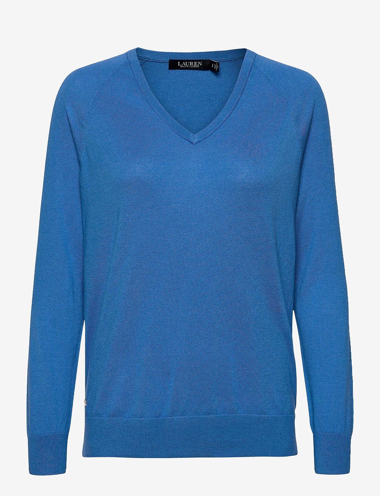 Lauren Ralph Lauren - Modal-Silk V-Neck Sweater - pulls - captain blue - 1