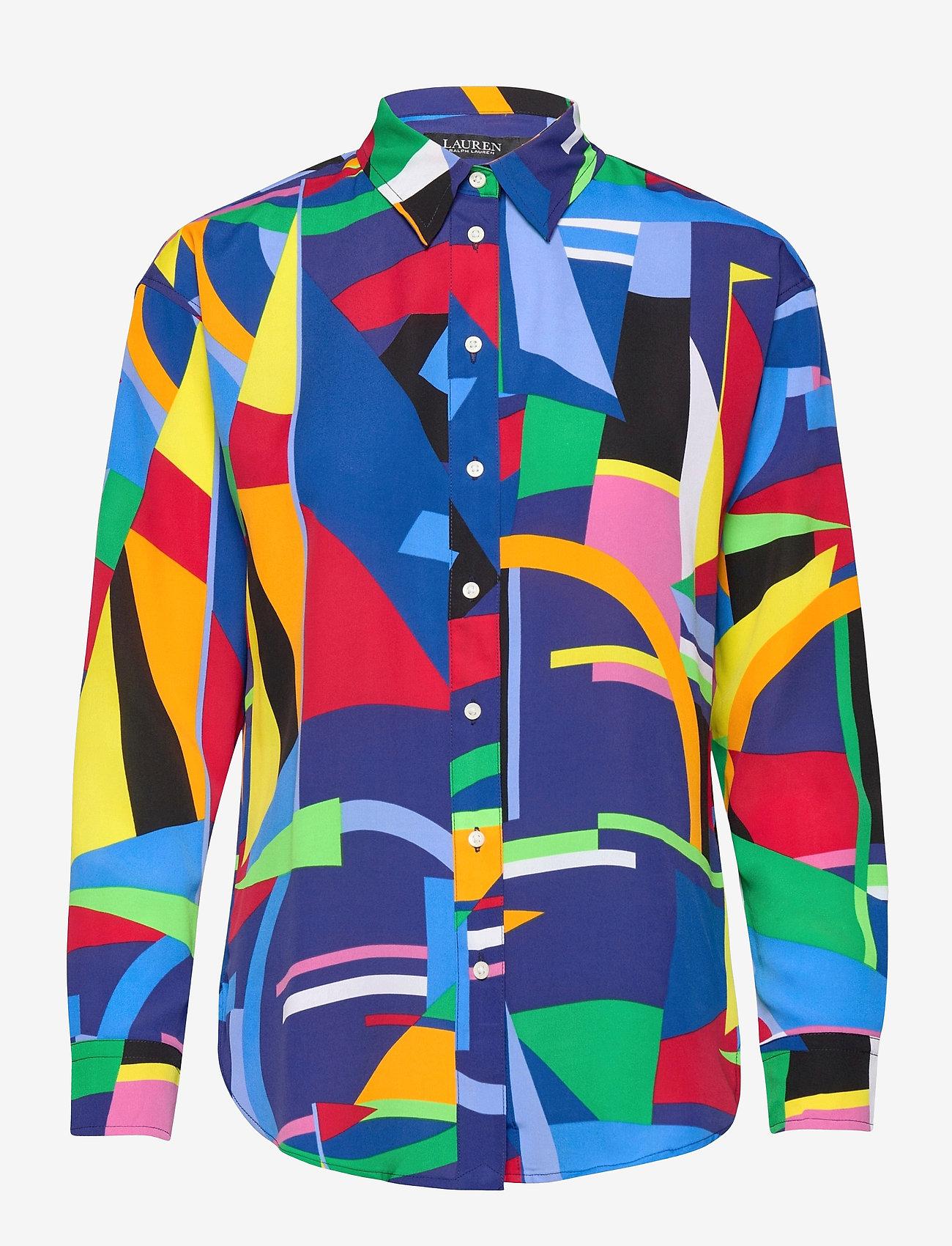 Lauren Ralph Lauren - Print Crepe Shirt - chemises à manches longues - polo black multi - 1