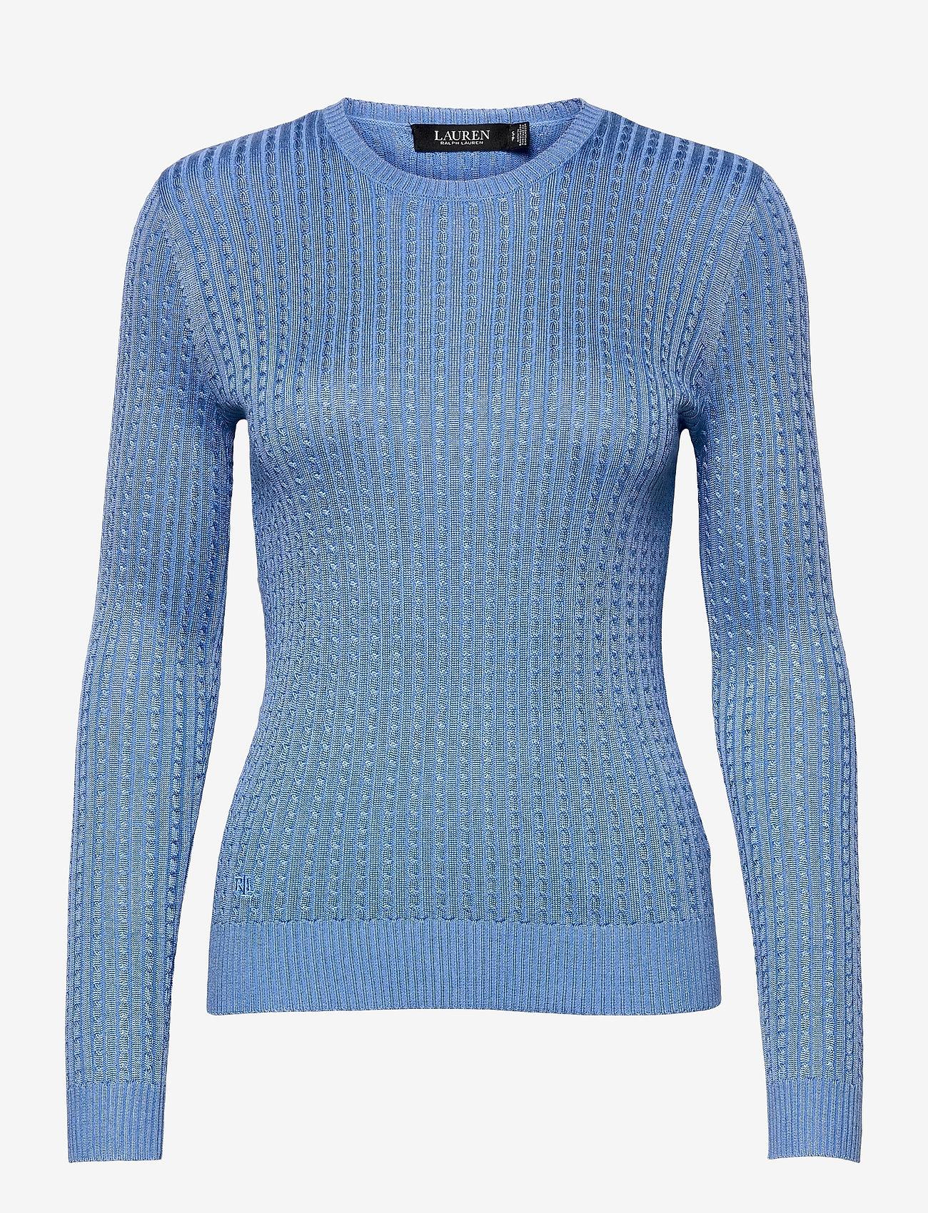 Lauren Ralph Lauren - Cable-Knit Crewneck Sweater - trøjer - cabana blue - 1