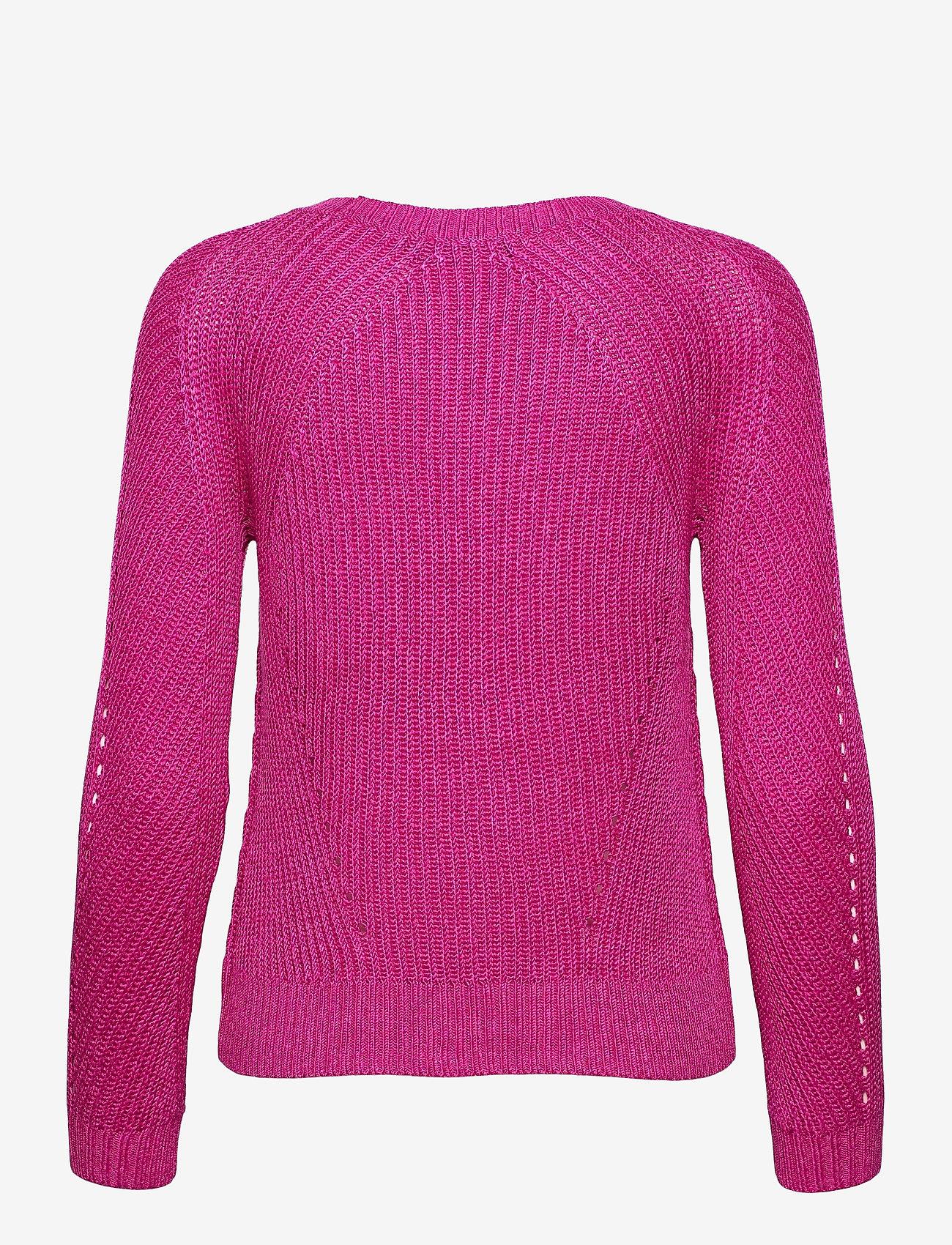 Lauren Ralph Lauren - Linen-Blend Crewneck Sweater - trøjer - nouveau bright pi - 1