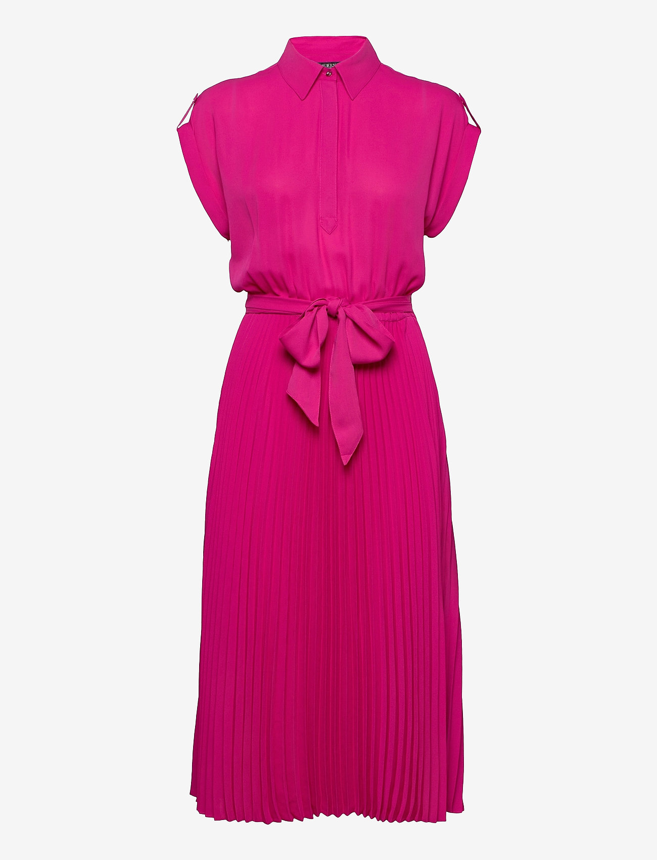 Lauren Ralph Lauren - Pleated Georgette Shirtdress - skjortekjoler - nouveau bright pi - 1