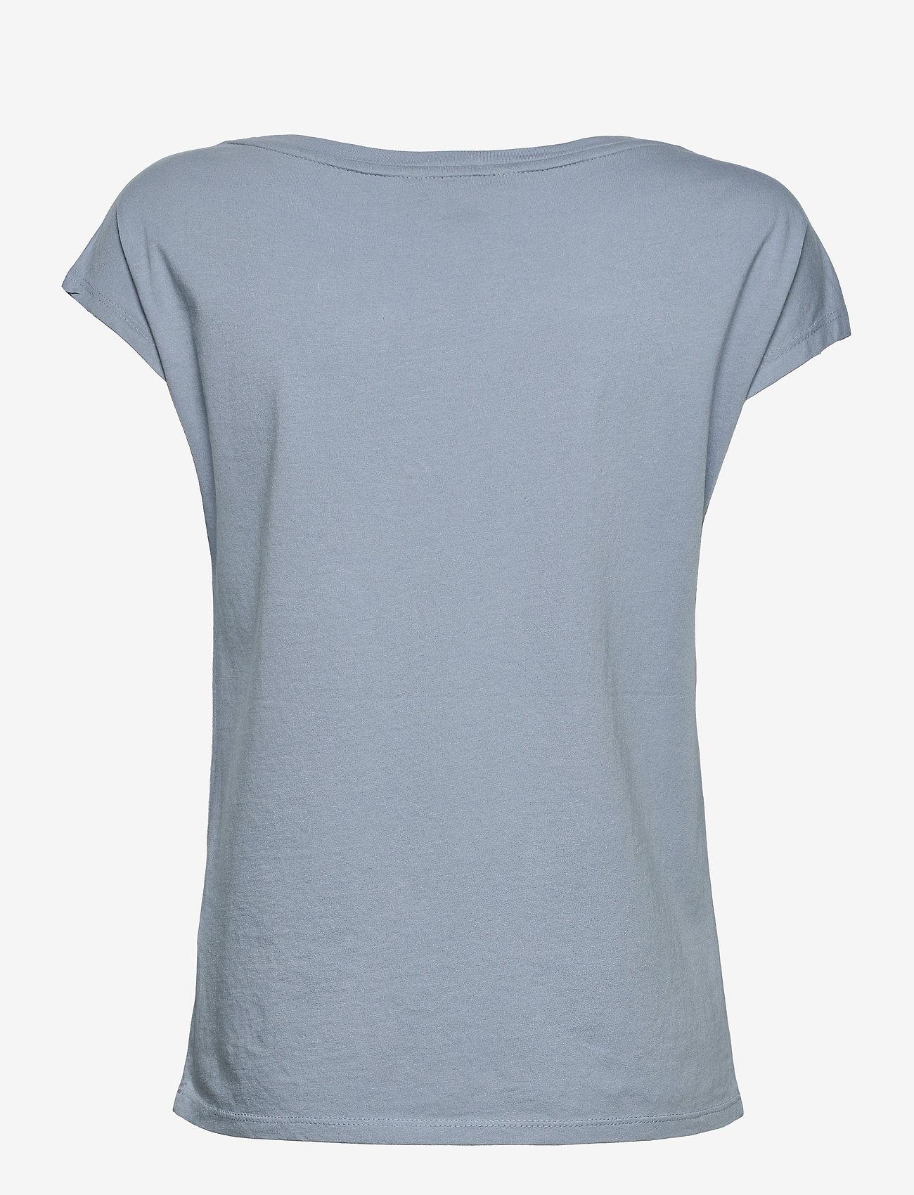 Lauren Ralph Lauren - Logo Boatneck Tee - t-shirts - dust blue - 1