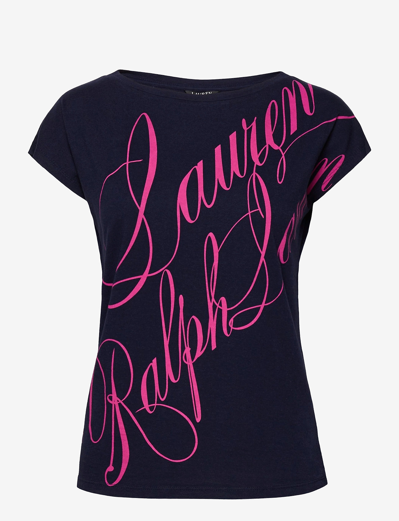 Lauren Ralph Lauren - Logo Boatneck Tee - t-shirts - french navy - 1