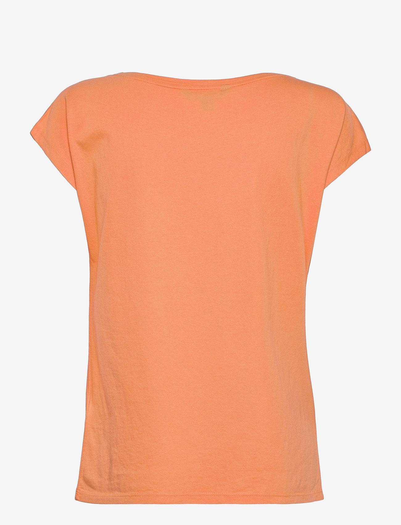 Lauren Ralph Lauren - Logo Boatneck Tee - t-shirts - shell coral - 1
