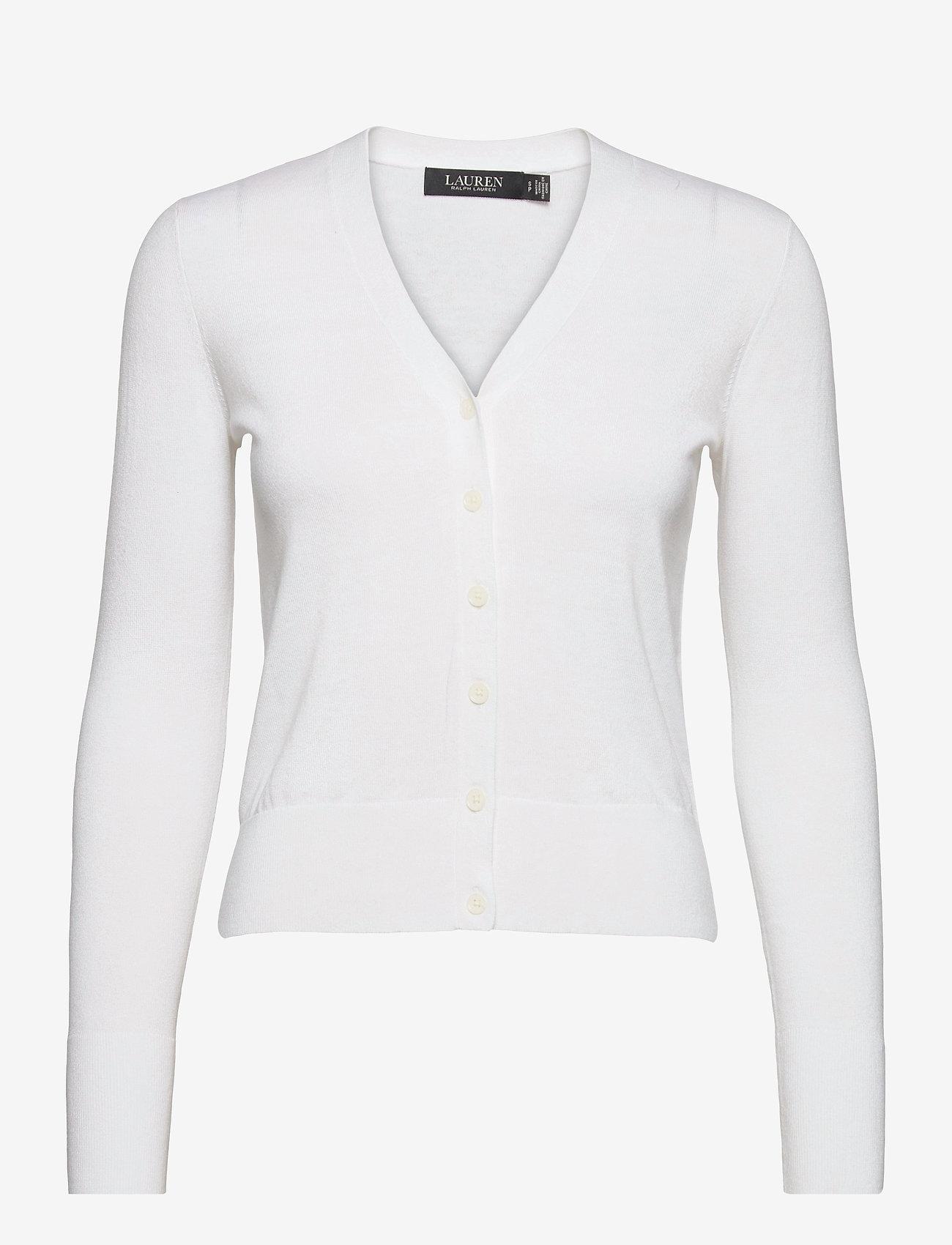 Lauren Ralph Lauren - Cotton-Modal Cardigan Sweater - cardigans - white - 1
