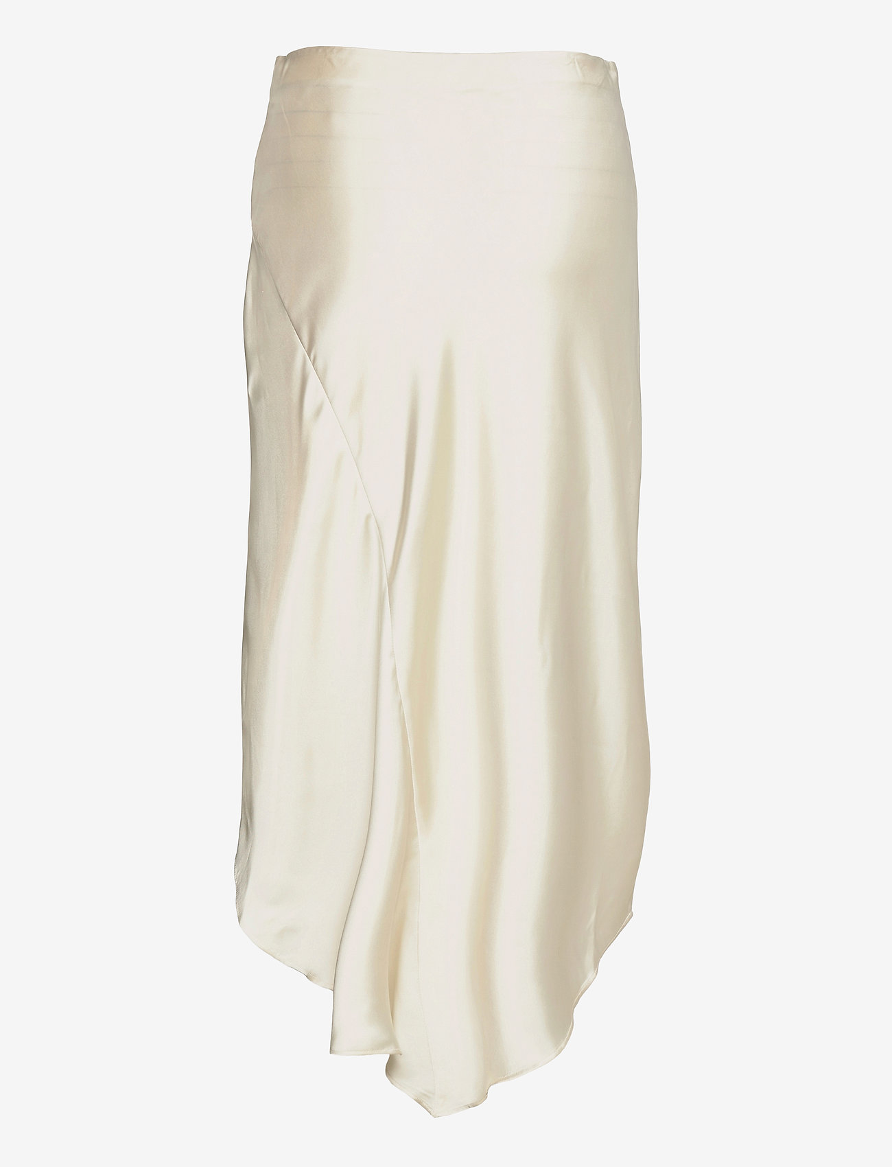 Lauren Ralph Lauren - Satin A-line Midi Skirt - midinederdele - mascarpone cream - 1