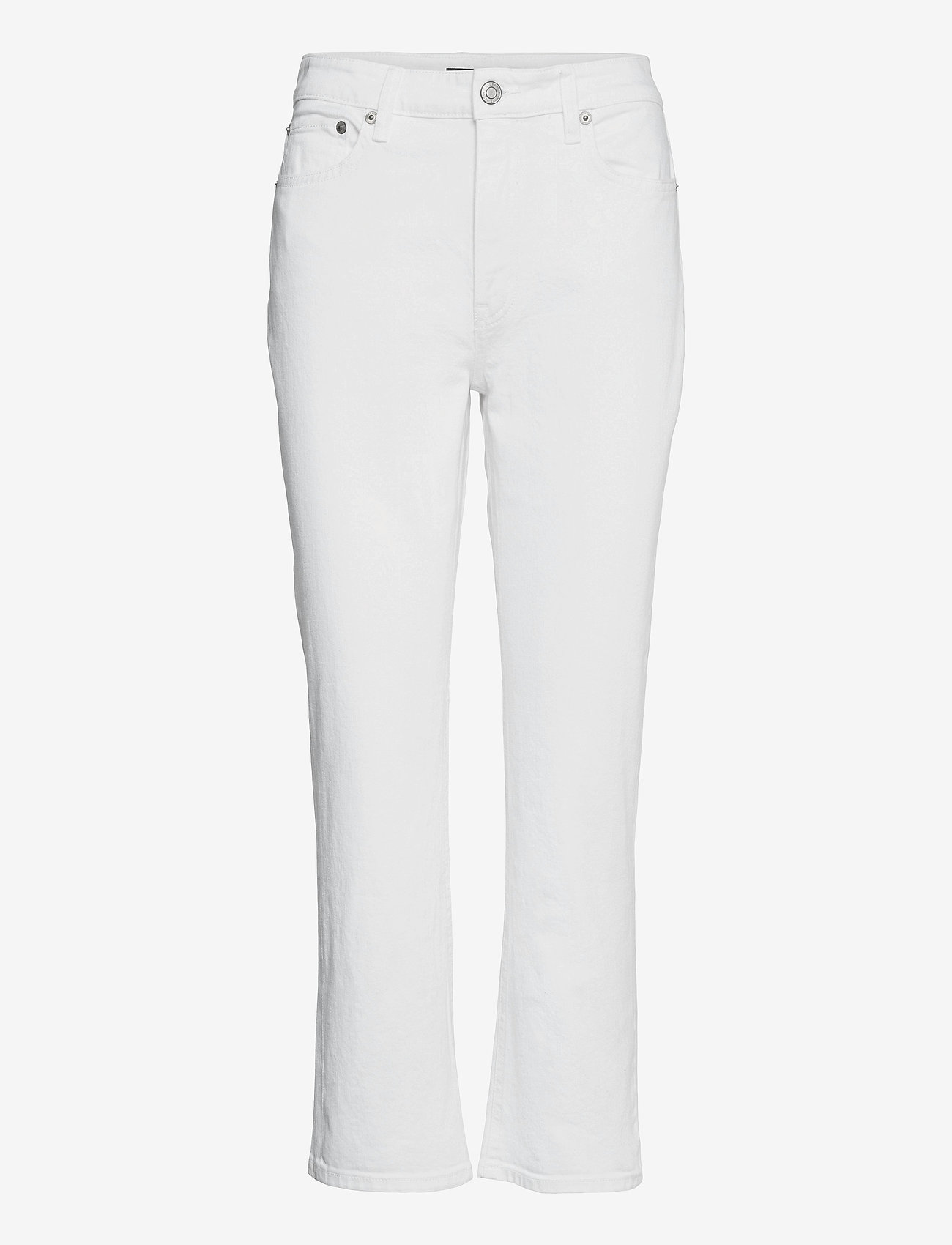 Lauren Ralph Lauren - High-Rise Straight Ankle Jean - straight jeans - white wsh - 1