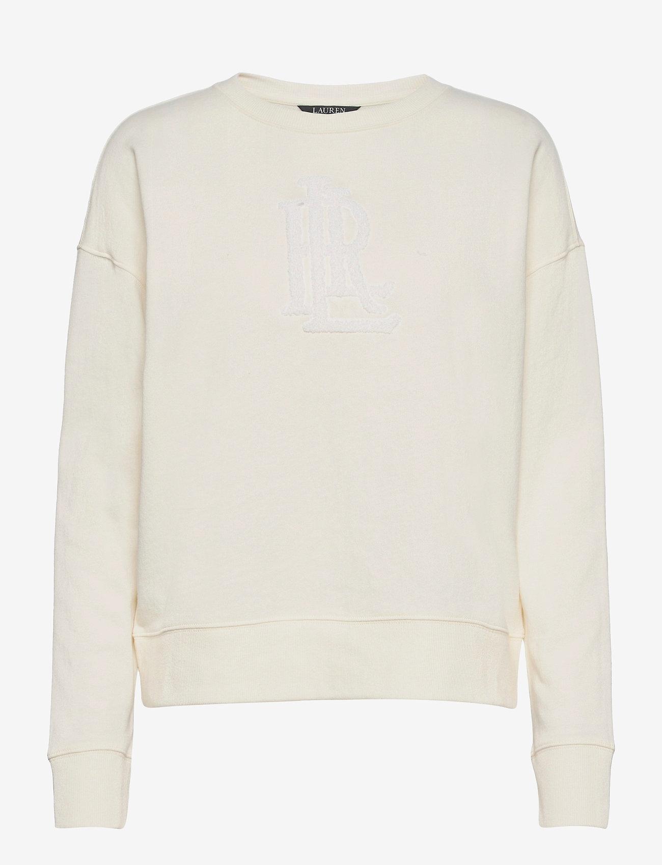 Lauren Ralph Lauren - Collegiate French Terry Top - sweatshirts - pale cream - 0