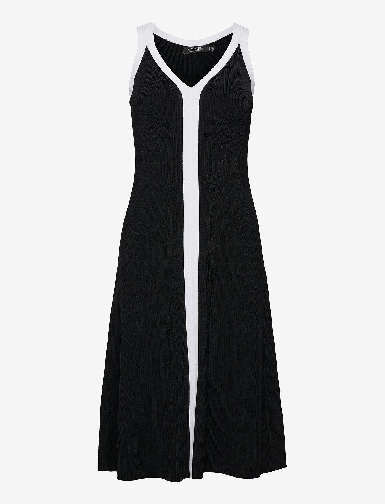 Lauren Ralph Lauren - Two-Tone Sleeveless Dress - cocktailkjoler - polo black/white - 0