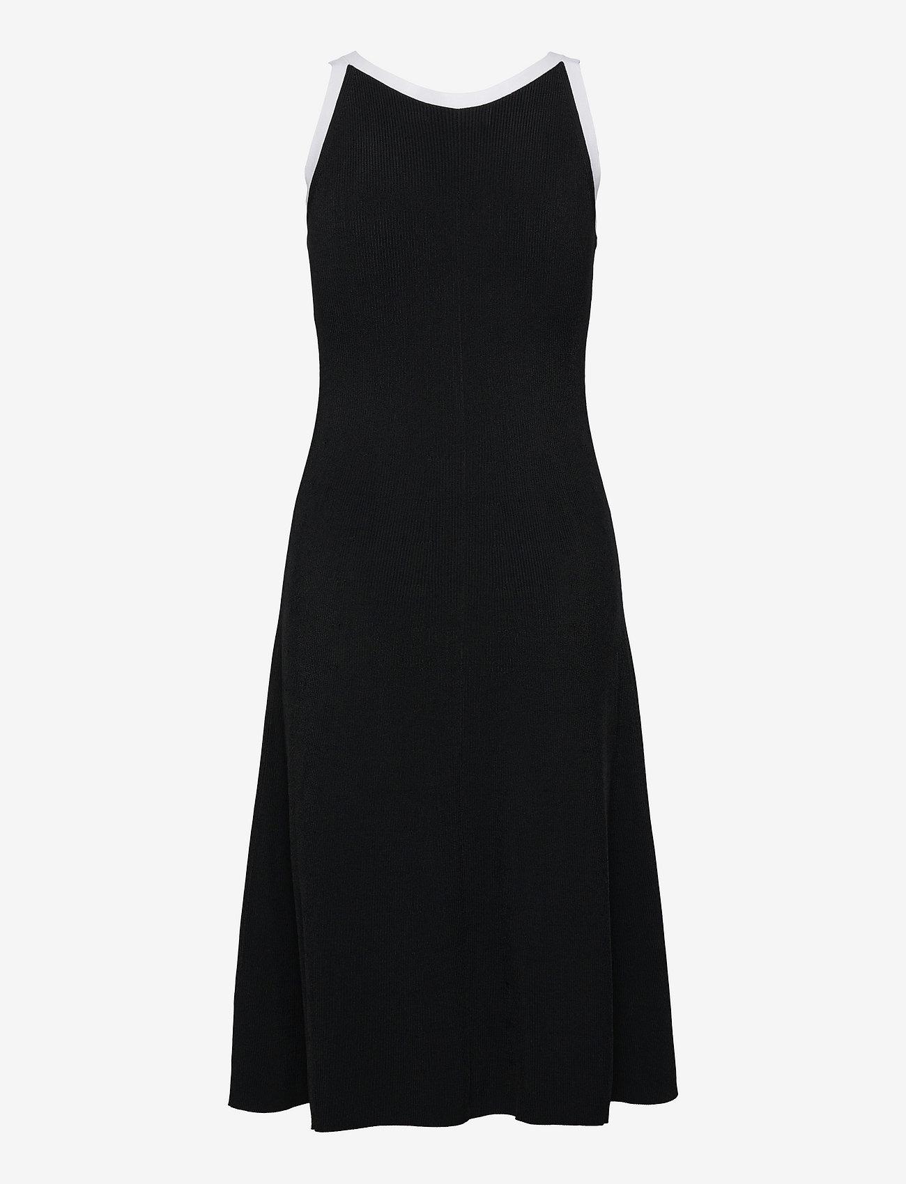 Lauren Ralph Lauren - Two-Tone Sleeveless Dress - cocktailkjoler - polo black/white - 1