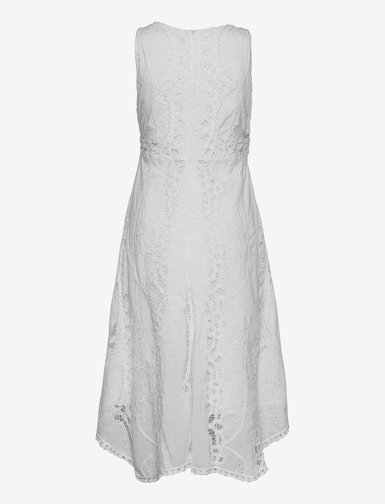 Lauren Ralph Lauren - Battenberg Lace Cotton Voile Dress - sommerkjoler - white - 1