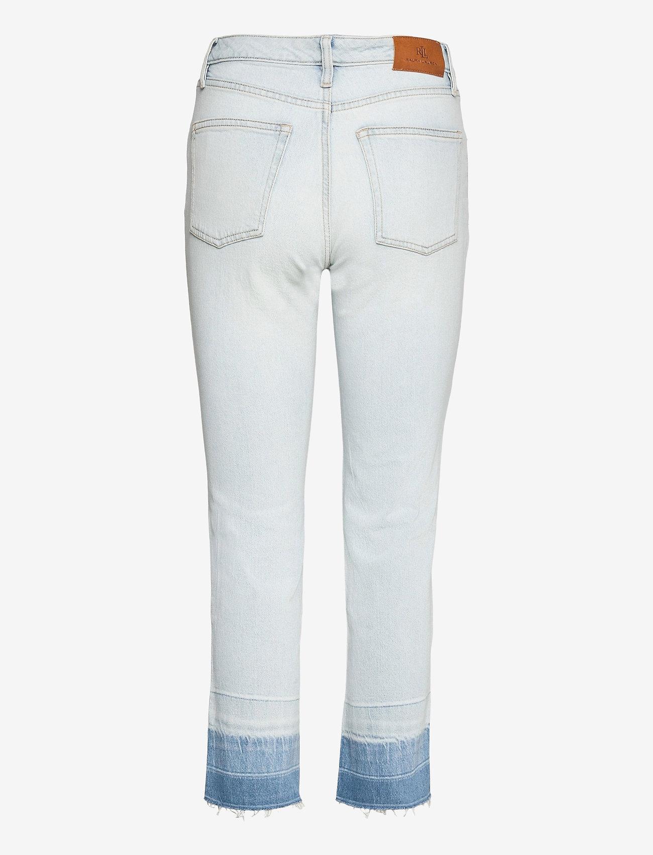 Lauren Ralph Lauren - High-Rise Straight Ankle Jean - slim jeans - paradise blue was - 1