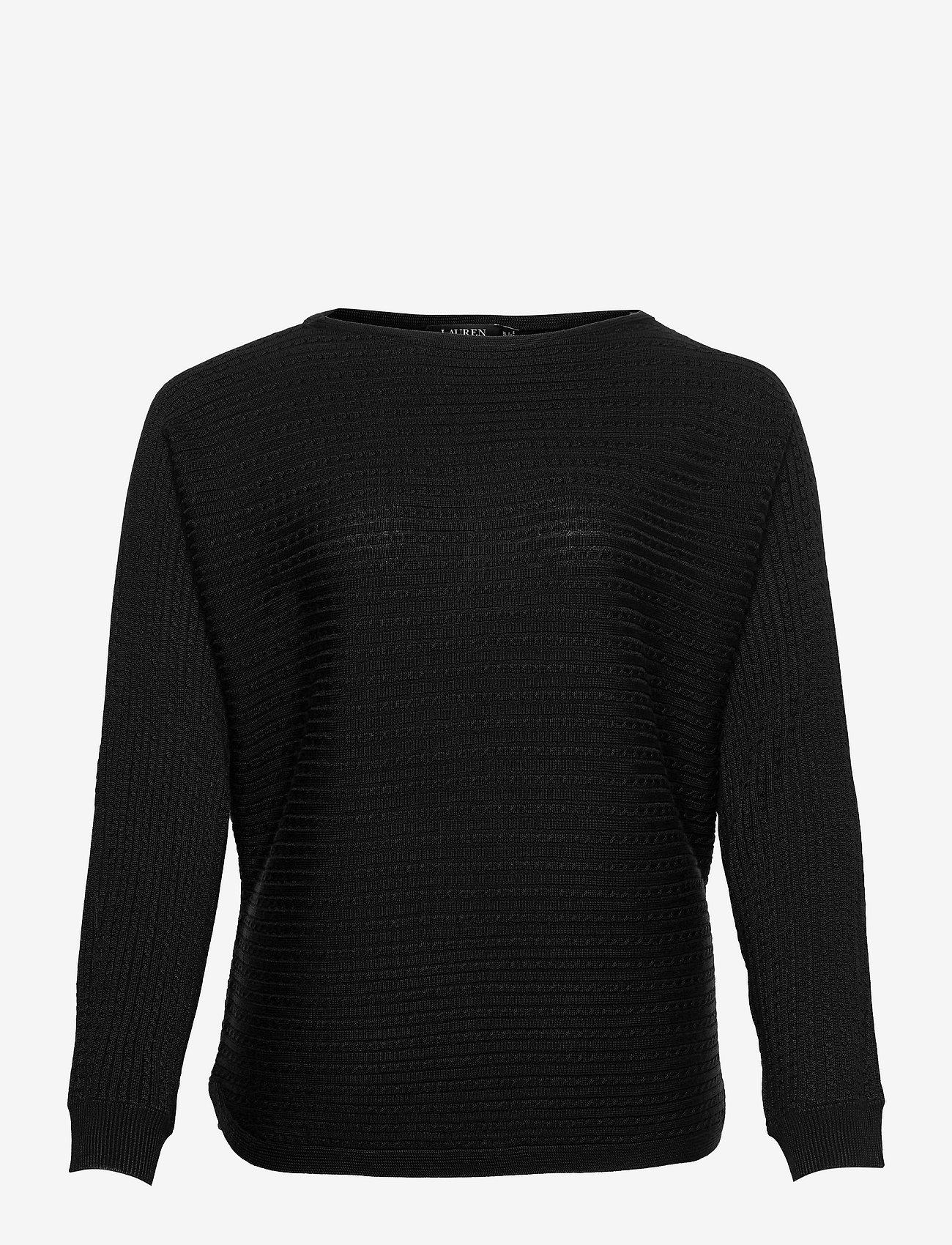 Lauren Ralph Lauren - Cable-Knit Boatneck Sweater - trøjer - polo black - 0